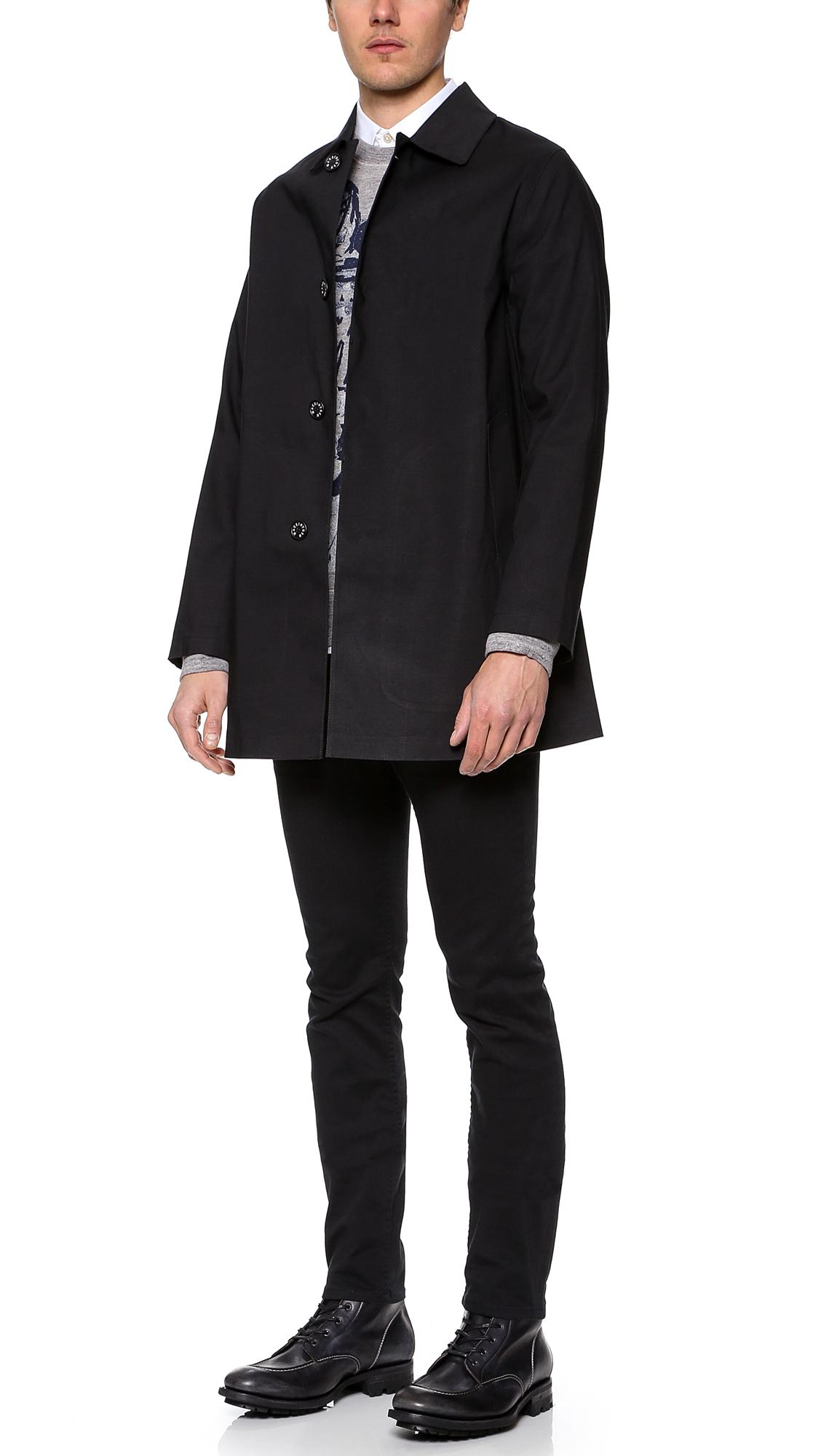 Mackintosh Dunoon Bonded Raincoat in Black for Men - Lyst