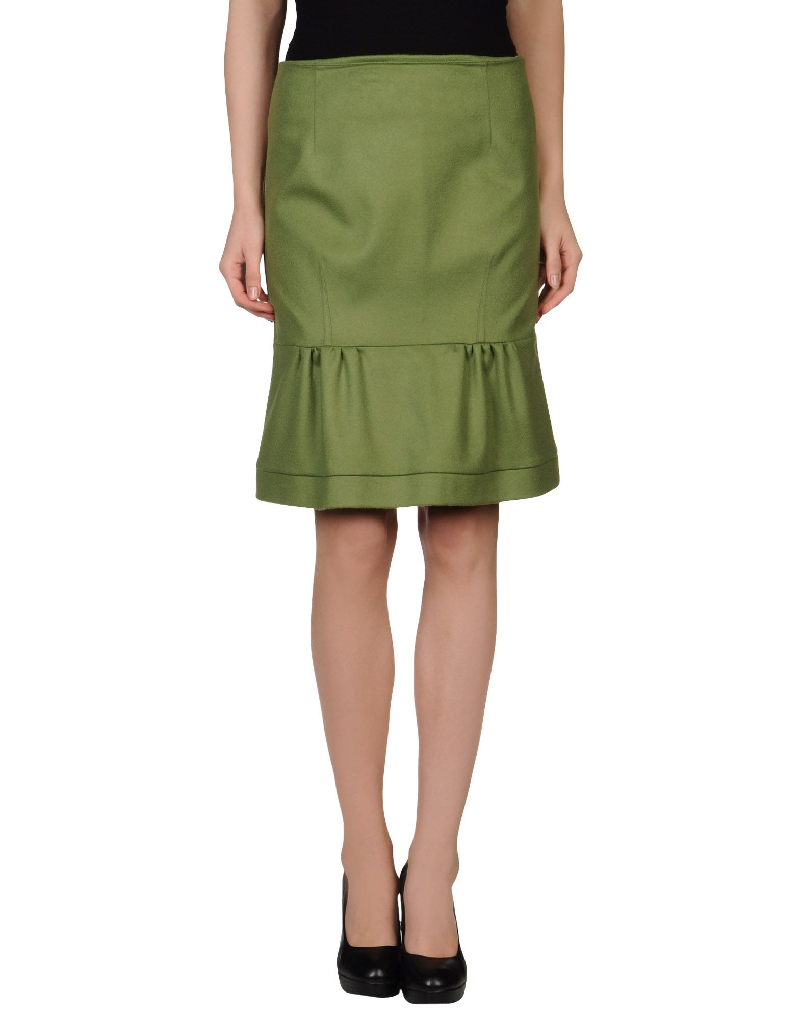 l autre chose knee length skirt in green lyst