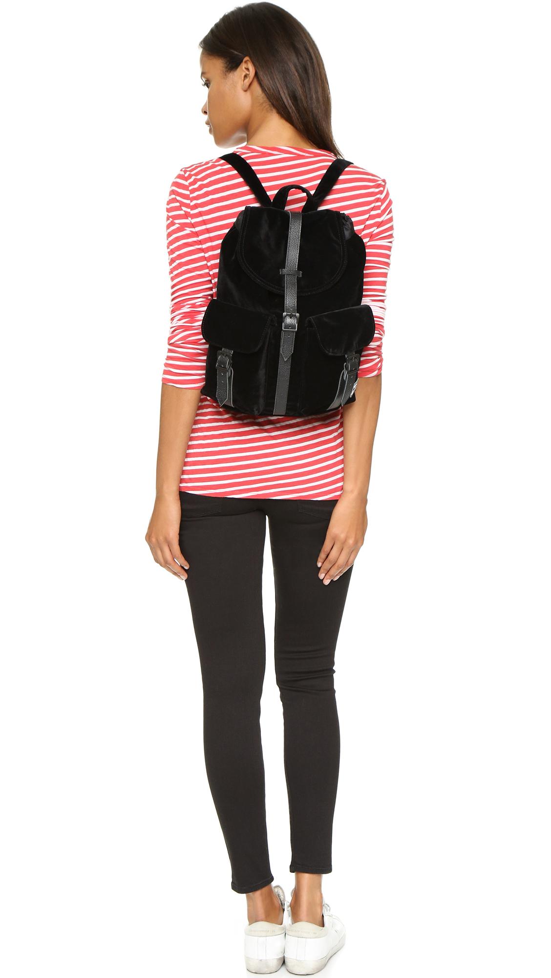 Lyst - Herschel Supply Co. Velvet Dawson Backpack - Black in Black 6937afde4b5be