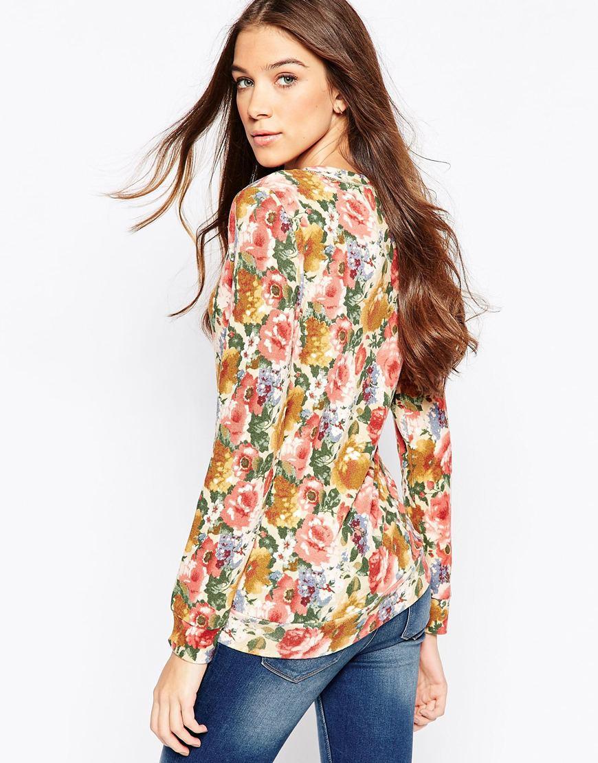 a0f394048e193c Lyst - Madam Rage Floral Print Long Sleeve Top