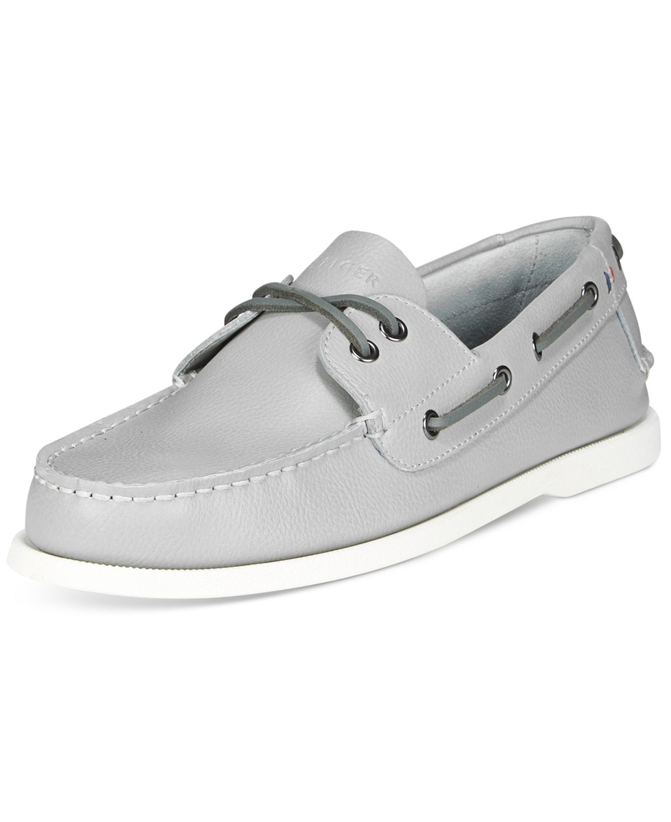 34ccc9f82f285 Lyst - Tommy Hilfiger Men s Bowman Boat Shoes in Gray for Men