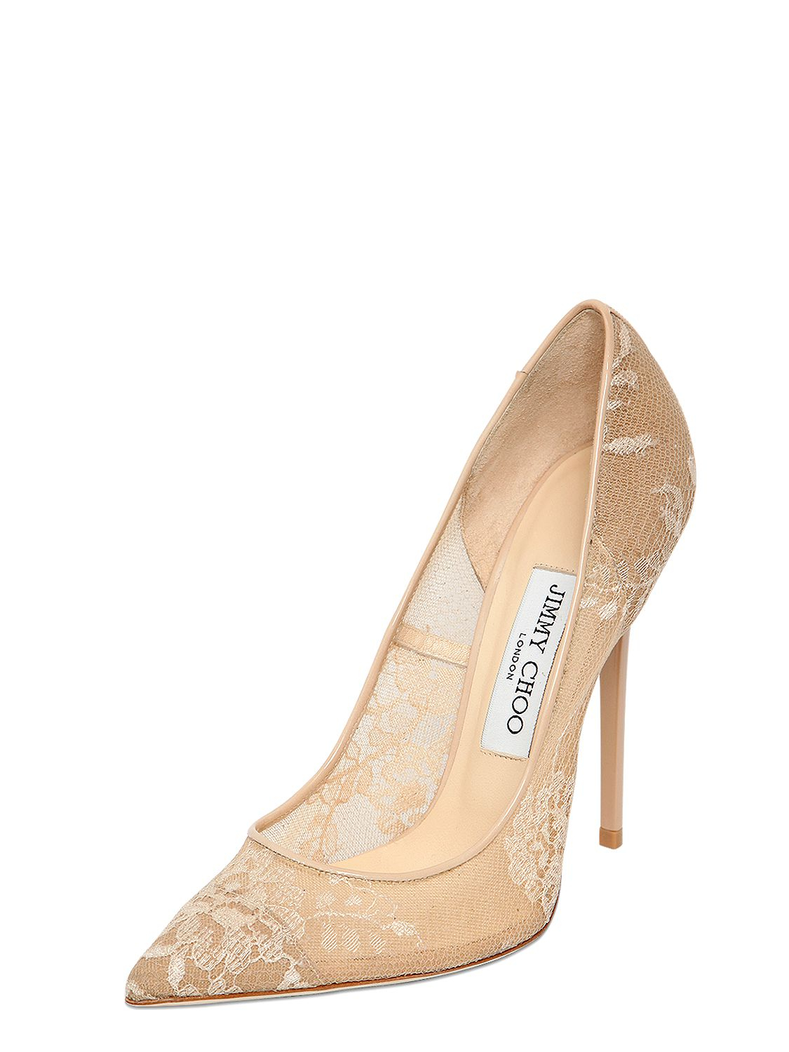 Lace Jimmy 120mm Floral Choo Metallic Pumps Anouk zMpSVqU
