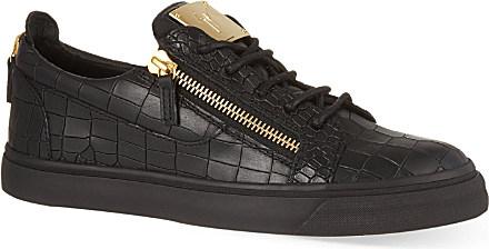 giuseppe zanotti crocodile leather trainers