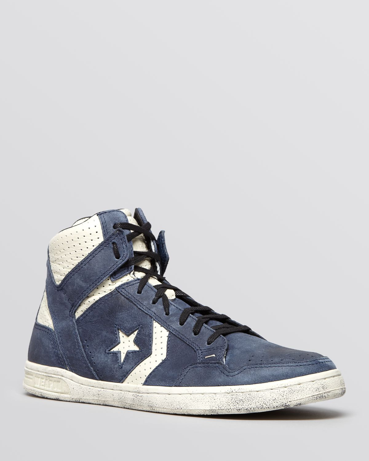 a6fb42ab849d ... black leather ctas ii high top sneakers 115ae b2e9d  sweden gallery.  previously sold at bloomingdales mens john varvatos converse 8f471 d71c7