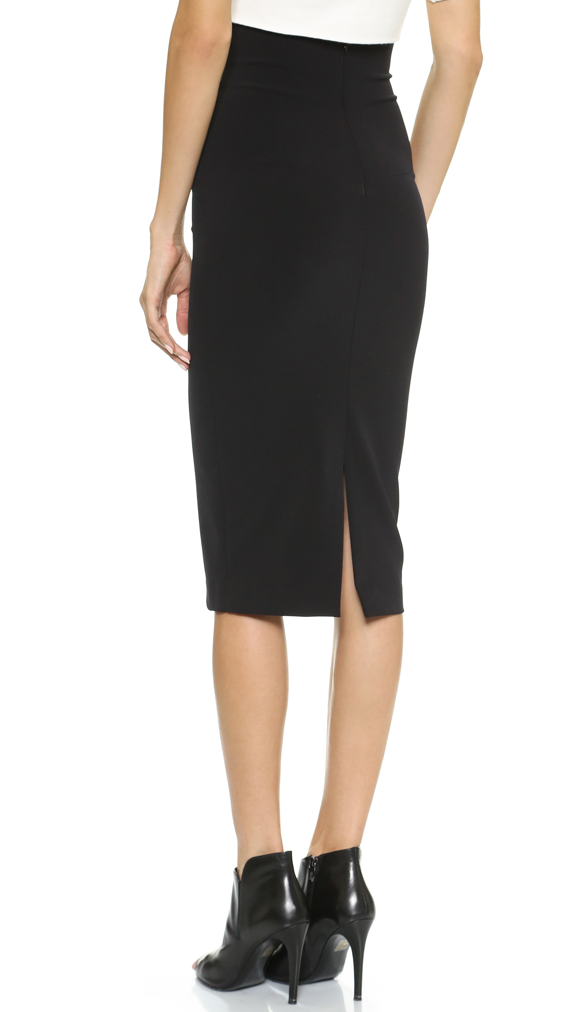 Nicholas Tech Stretch Pencil Skirt Black in Black | Lyst