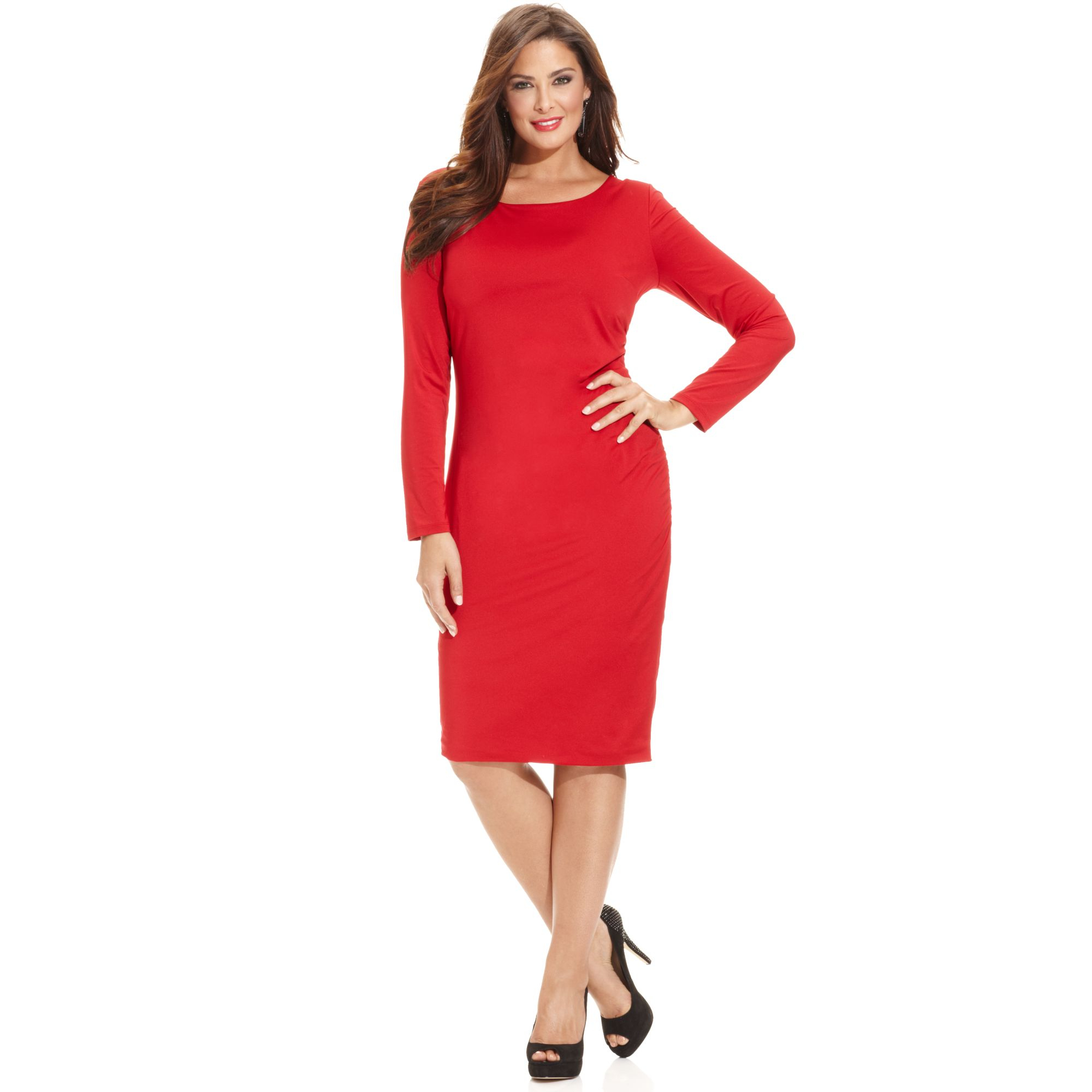 Plus Size Longsleeve Bodycon Dress