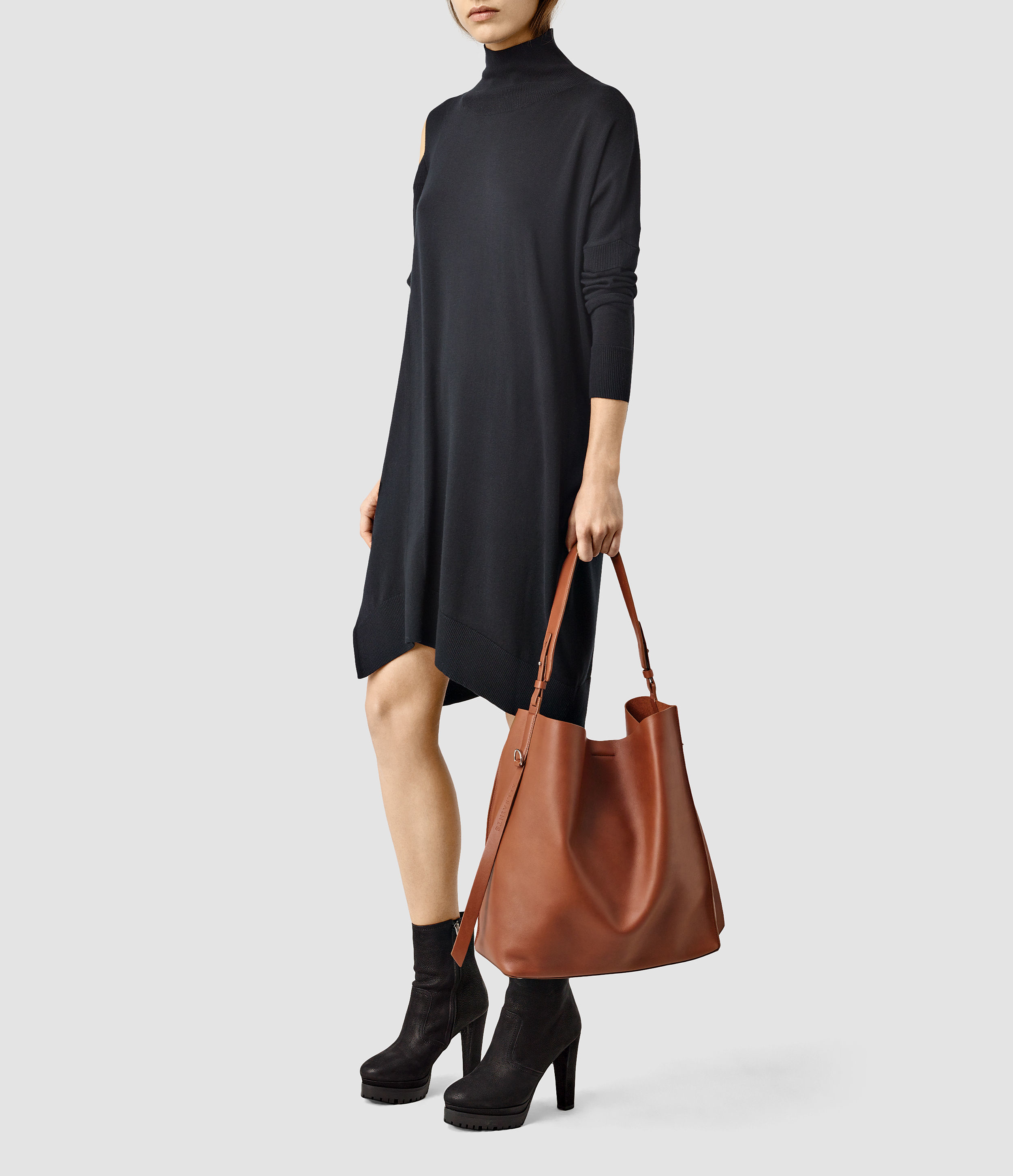 AllSaints Paradise North/South Leather Shoulder Bag Pay With Paypal Online Outlet Real Cheap Wide Range Of For Sale Cheap Real Explore cj6pPl