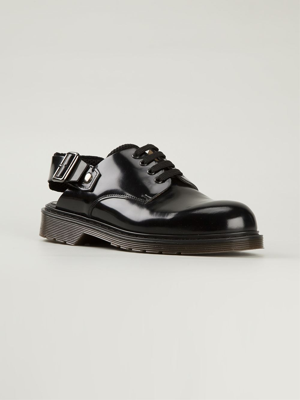 carven slingback lace up shoes in black for lyst
