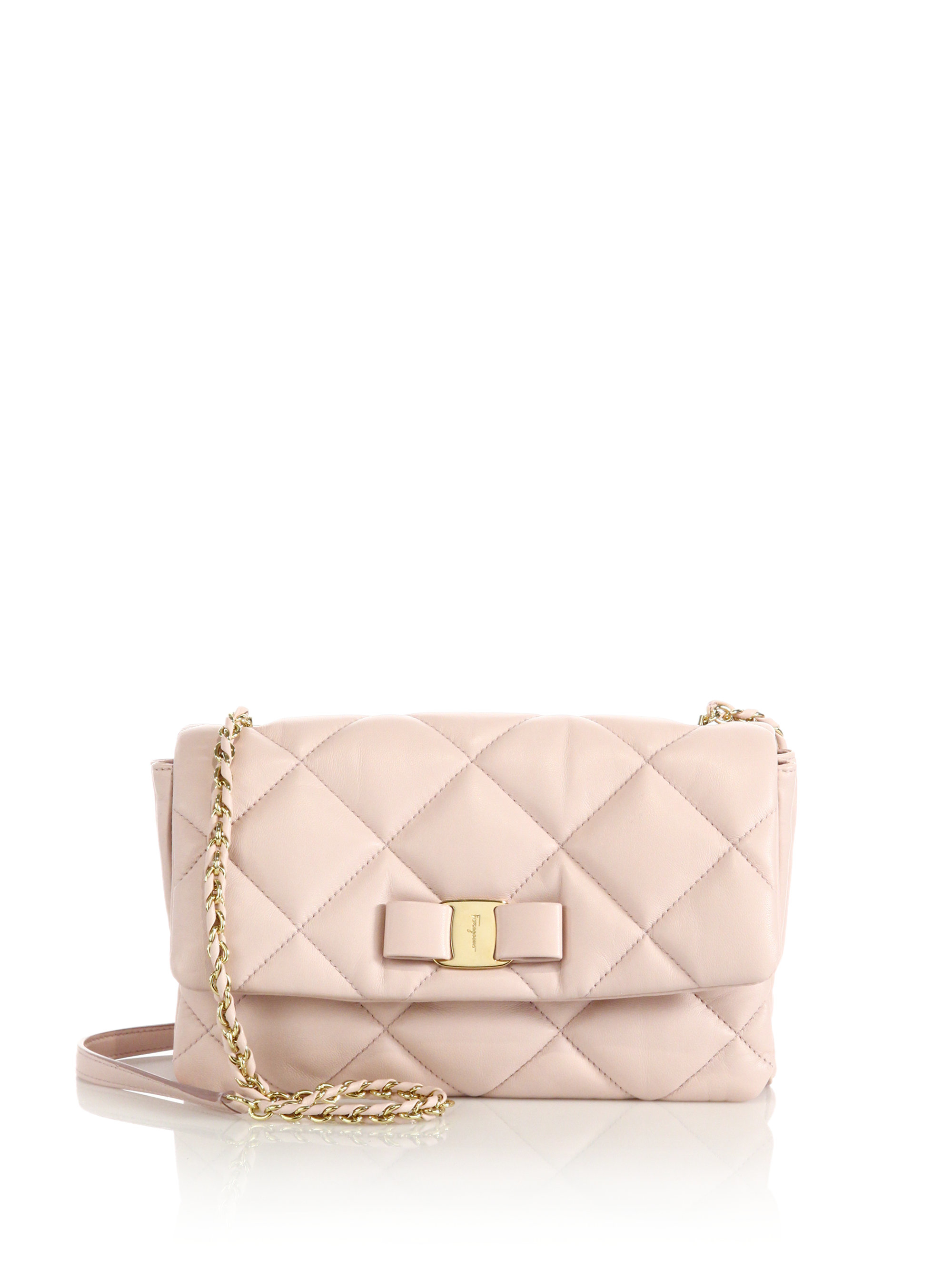6594f2d1d78c Lyst - Ferragamo Gelly Quilted Nappa Leather Shoulder Bag in Pink