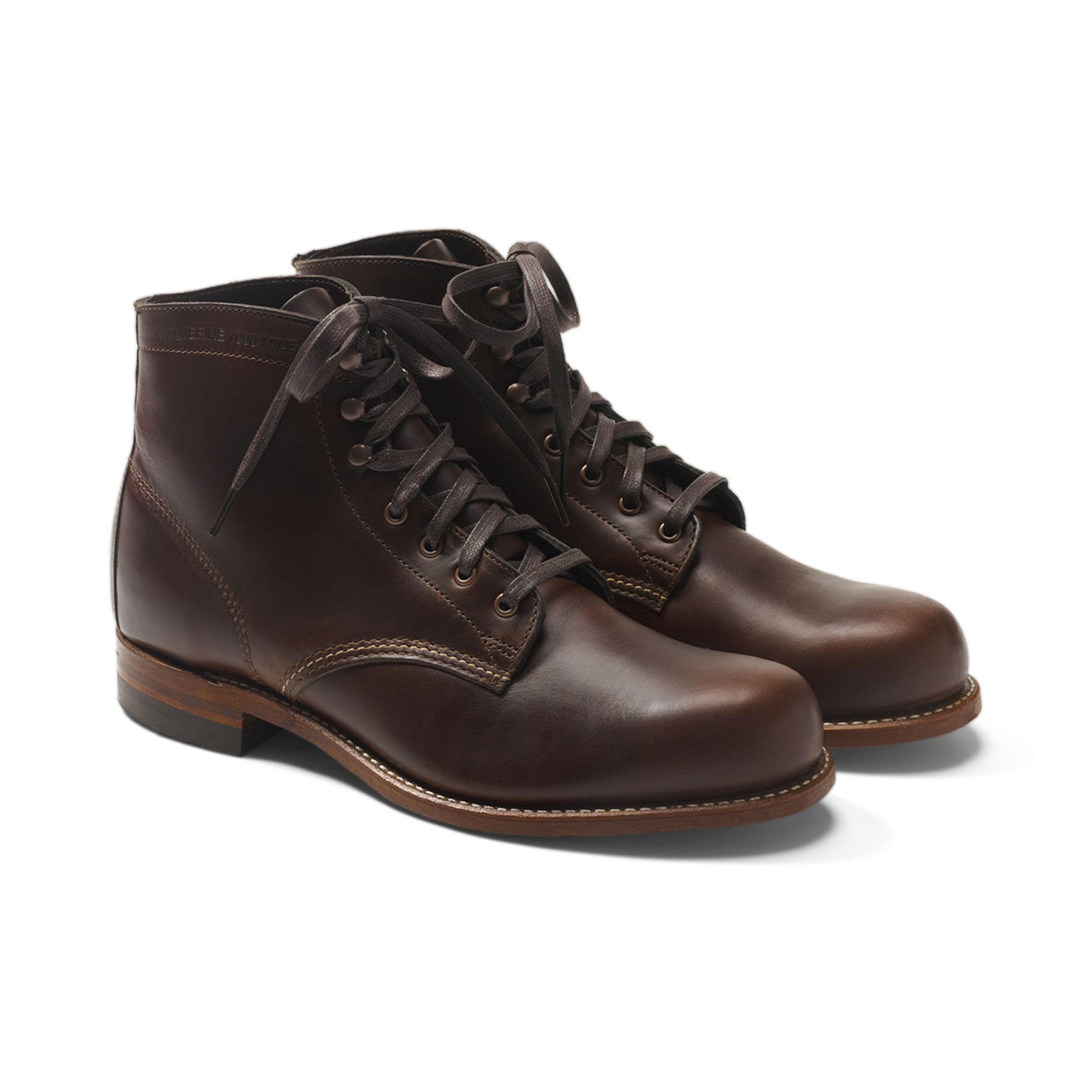wolverine 1000 mile boot in brown for lyst