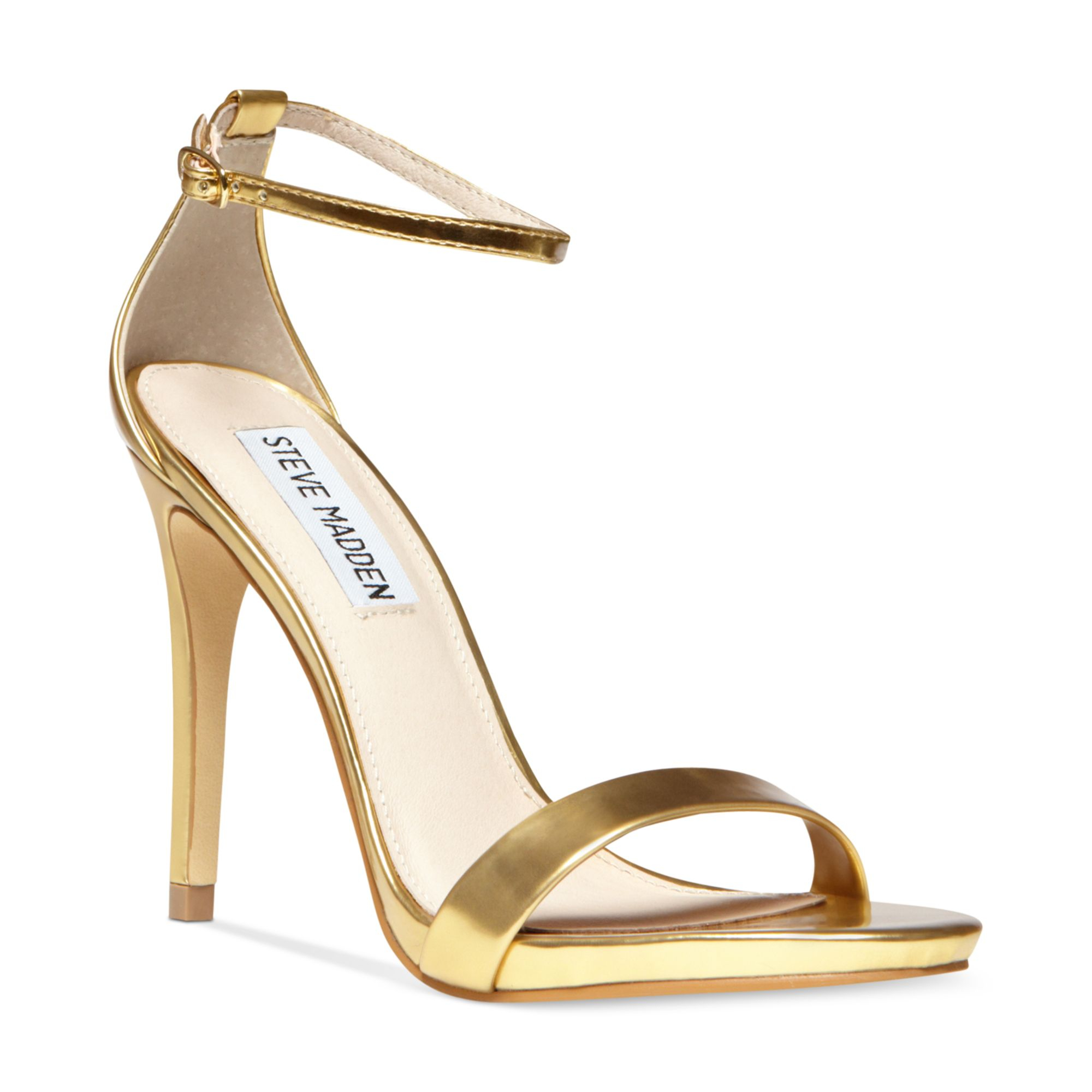Steve Madden Stecy Two Piece Sandals In Gold Metallic Lyst