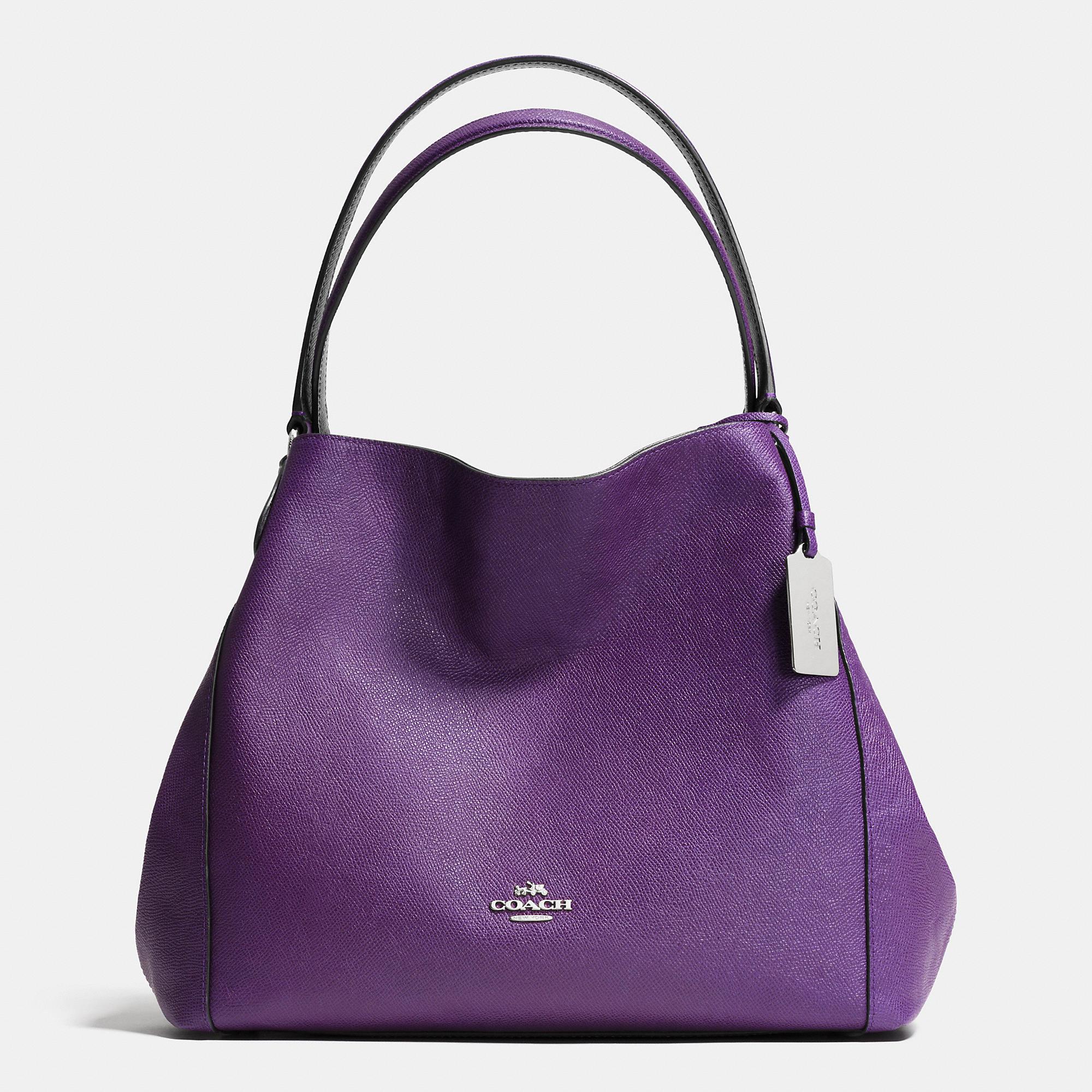 Coach Edie 31 Shoulder Bag In Pebble Leather in Purple | Lyst