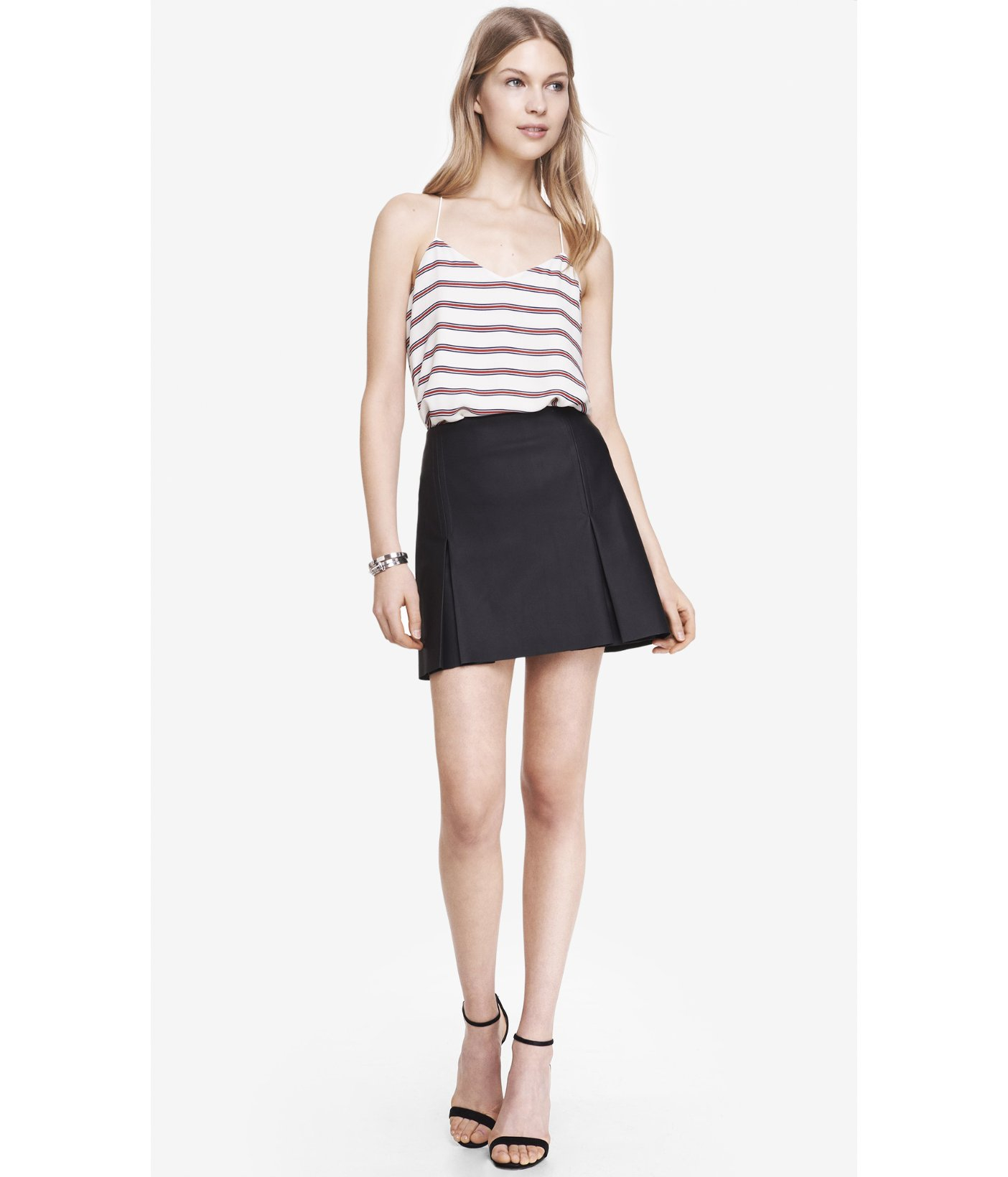 A Line Mini Skirt Black - Dress Ala