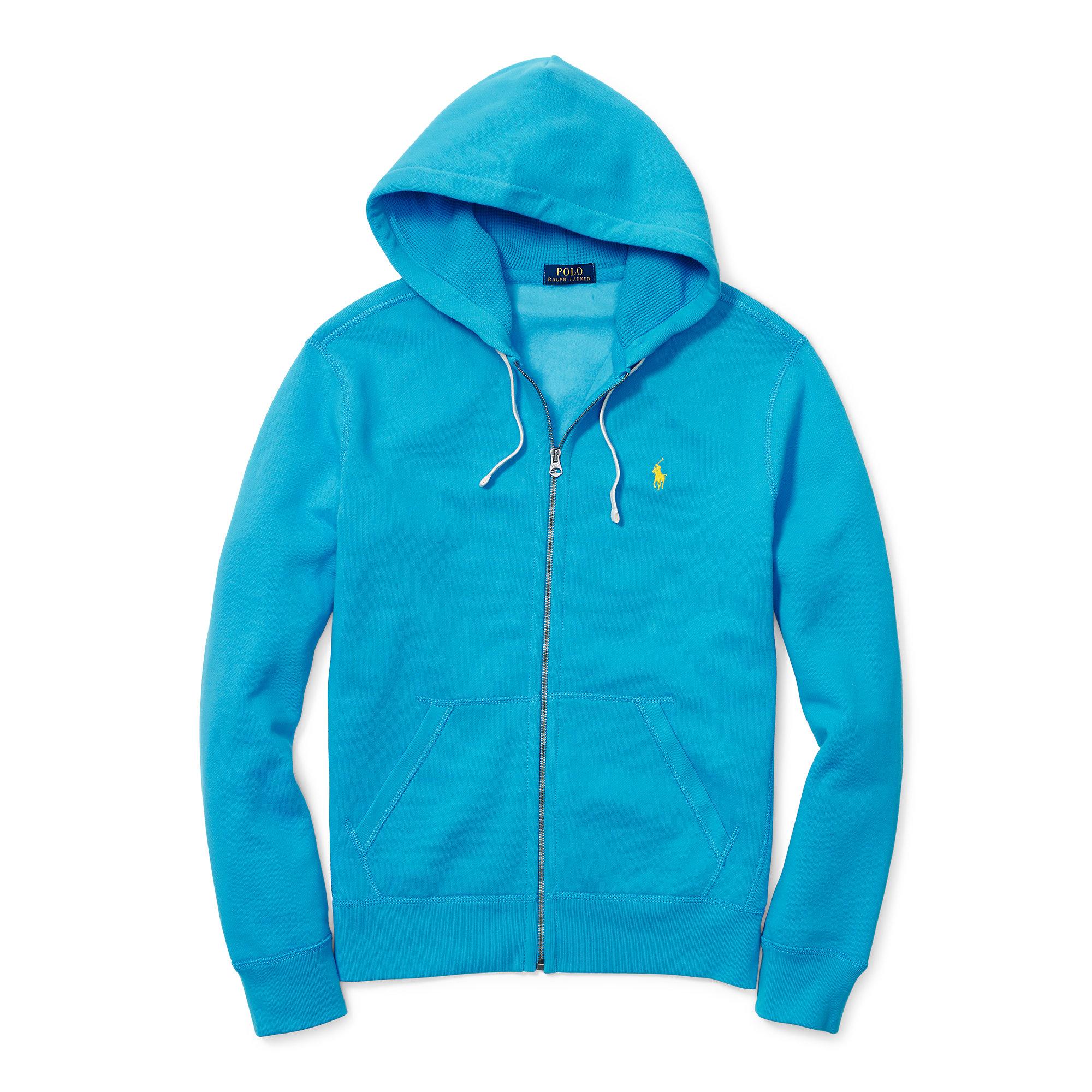 polo ralph lauren cotton blend fleece hoodie in blue for. Black Bedroom Furniture Sets. Home Design Ideas