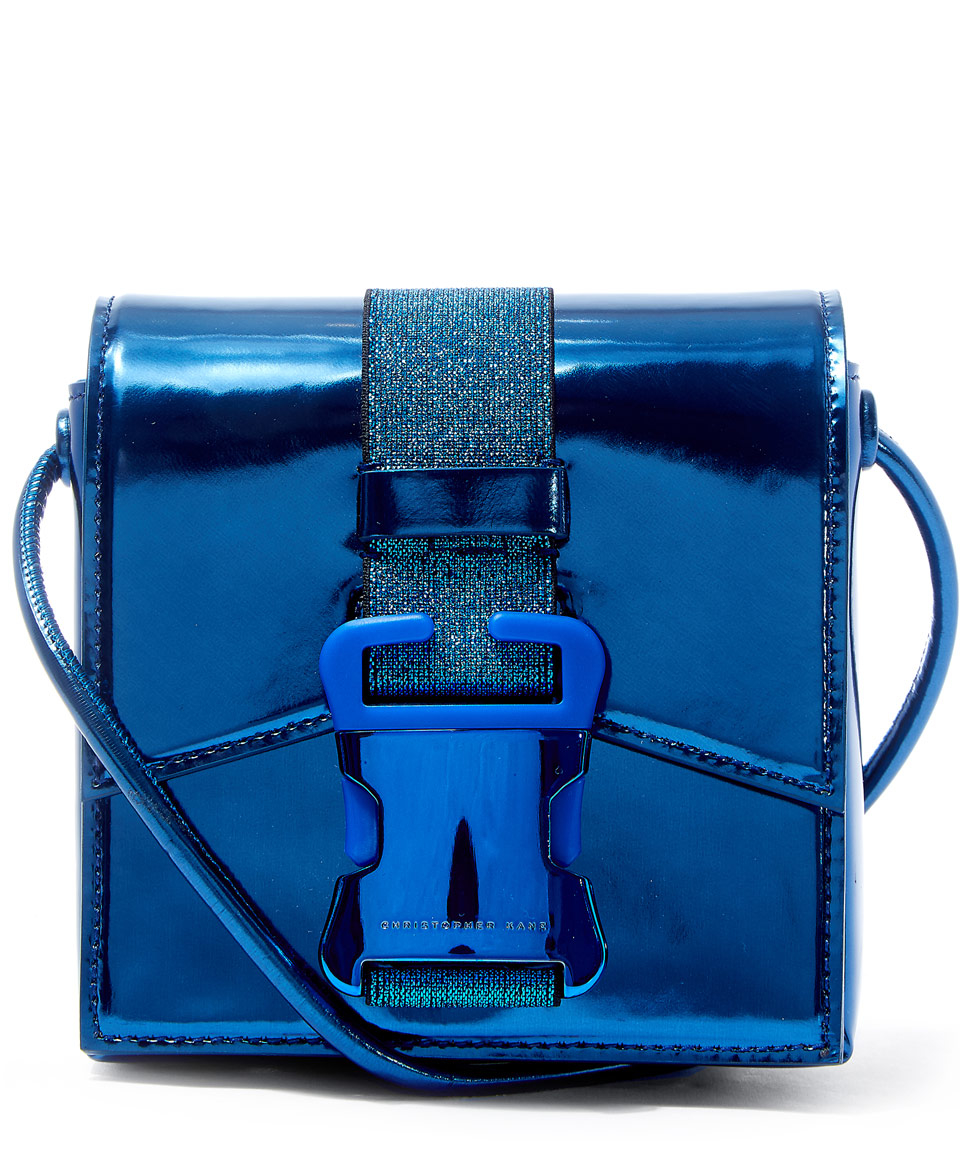 High Buckle In Bag Blue Shine Kane Christopher Leather Safety Mini qpwYxt