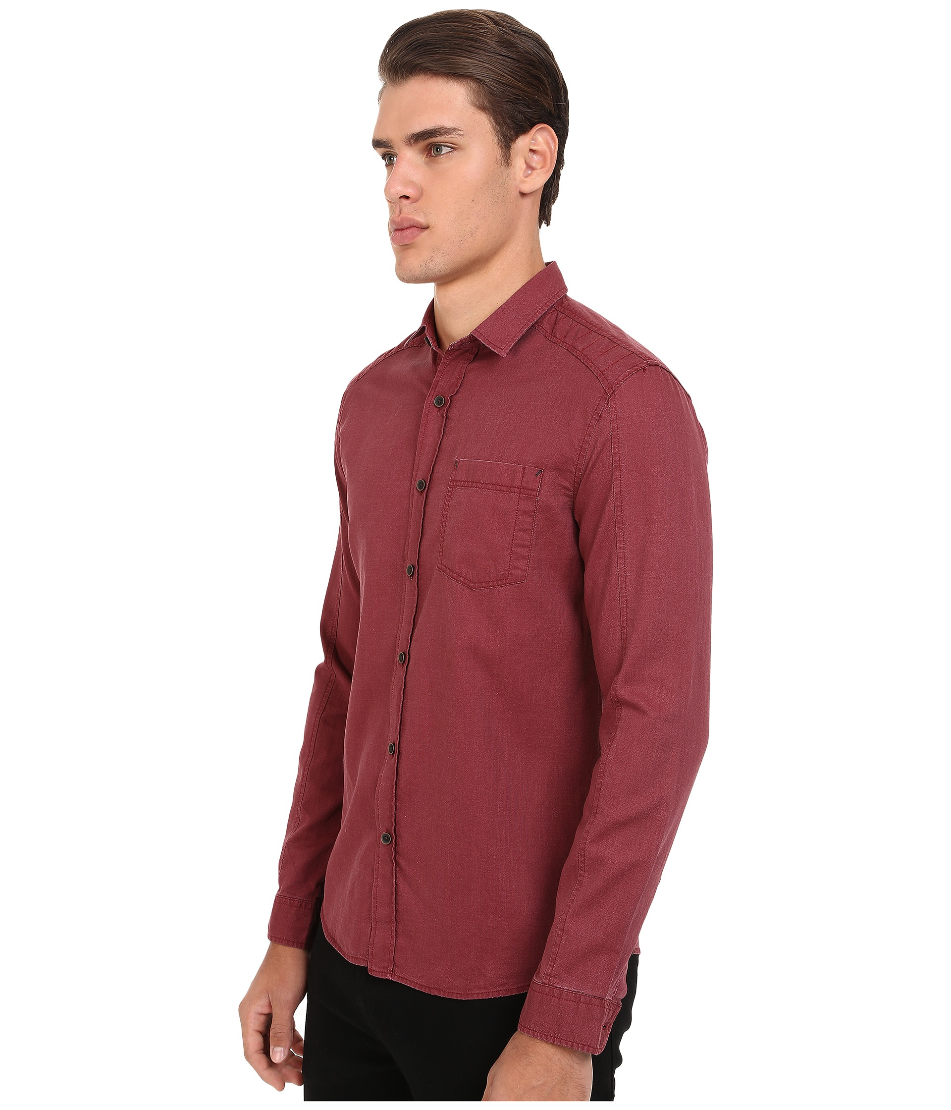 Mavi jeans Button Down Shirt in Red for Men | Lyst