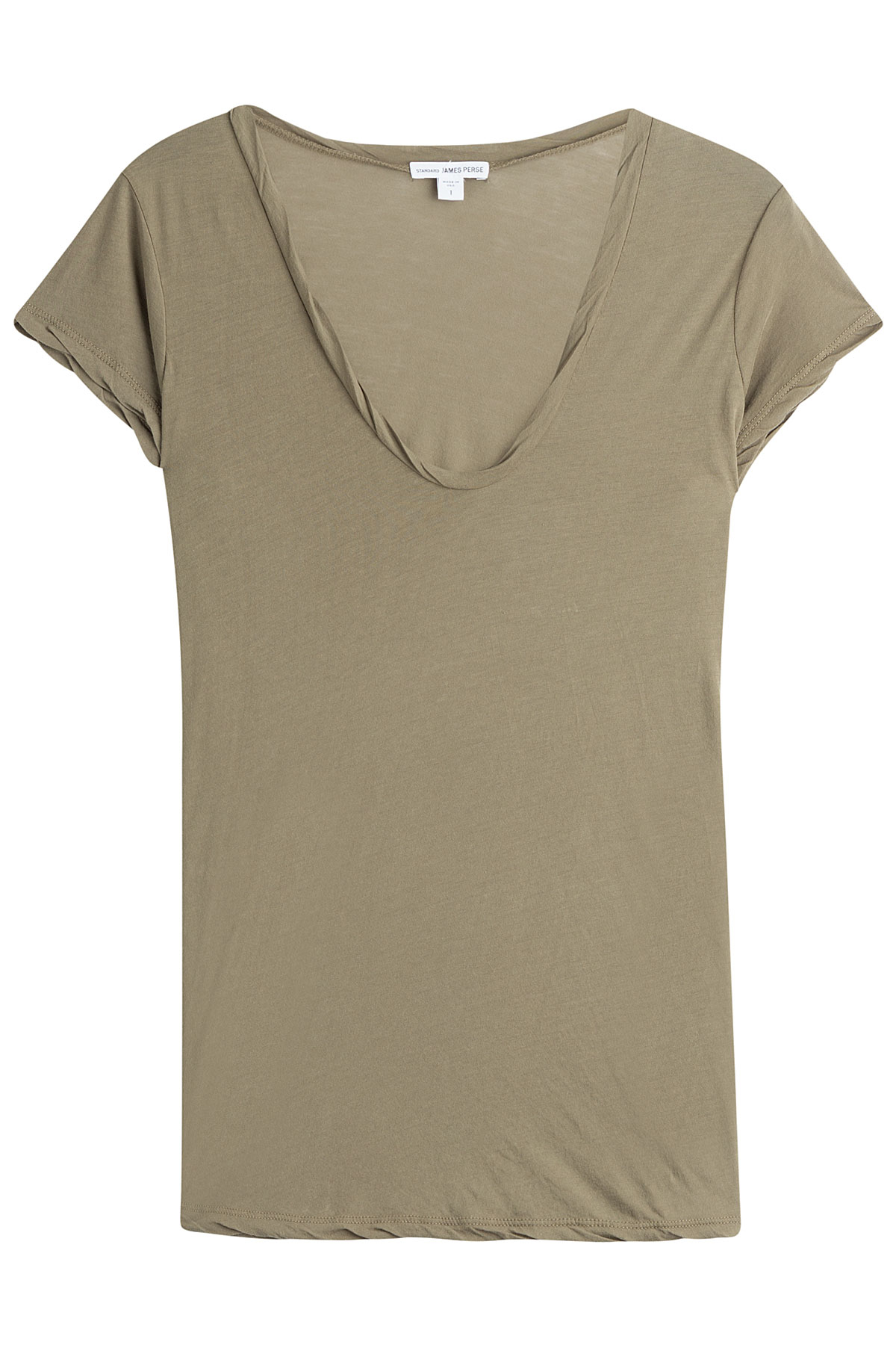 James perse cotton t shirt in green lyst for James perse t shirts sale