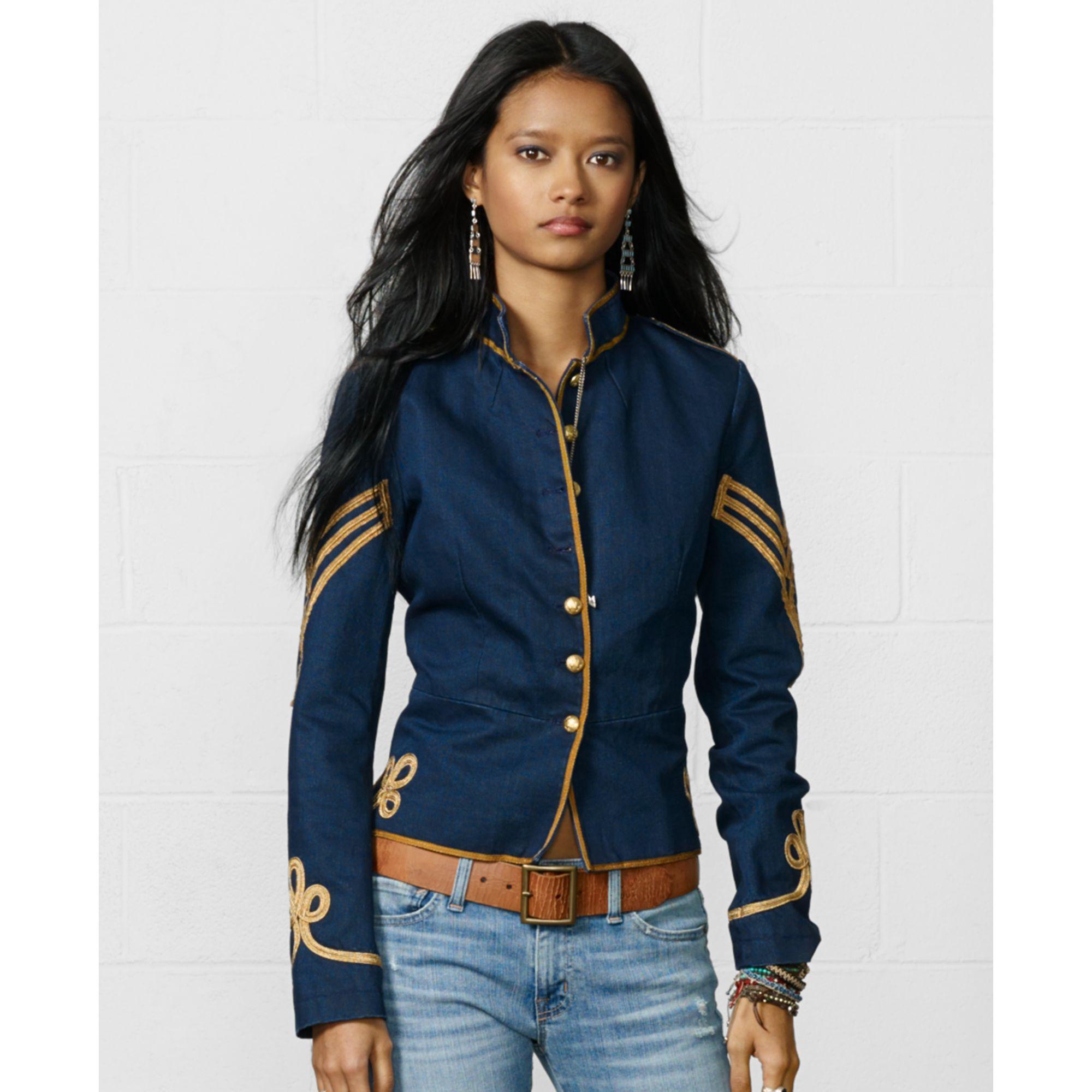Denim &amp supply ralph lauren Button-front Braided Military Jacket