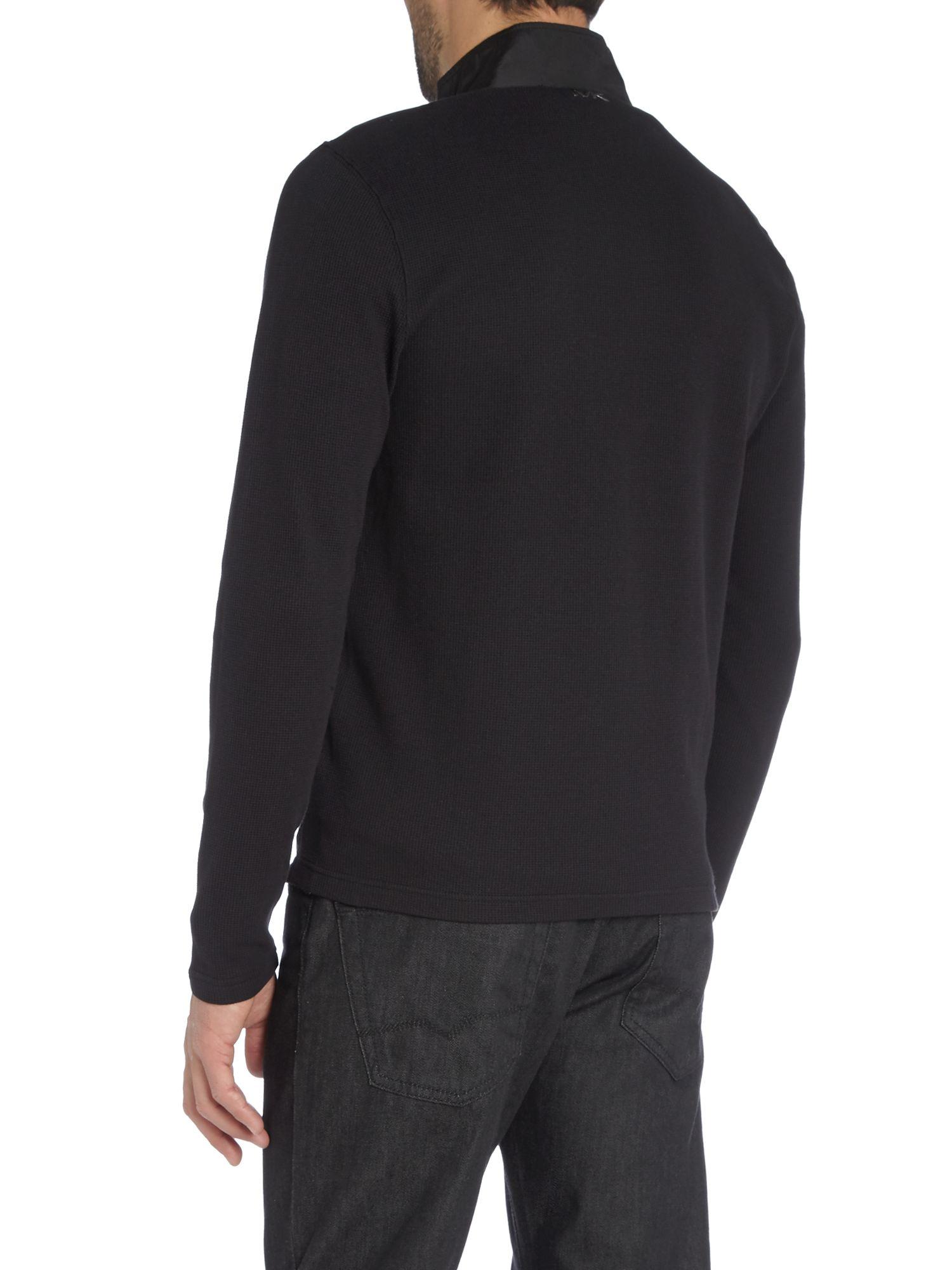 Michael Kors Zip Up Casual Bomber Jacket in Black for Men