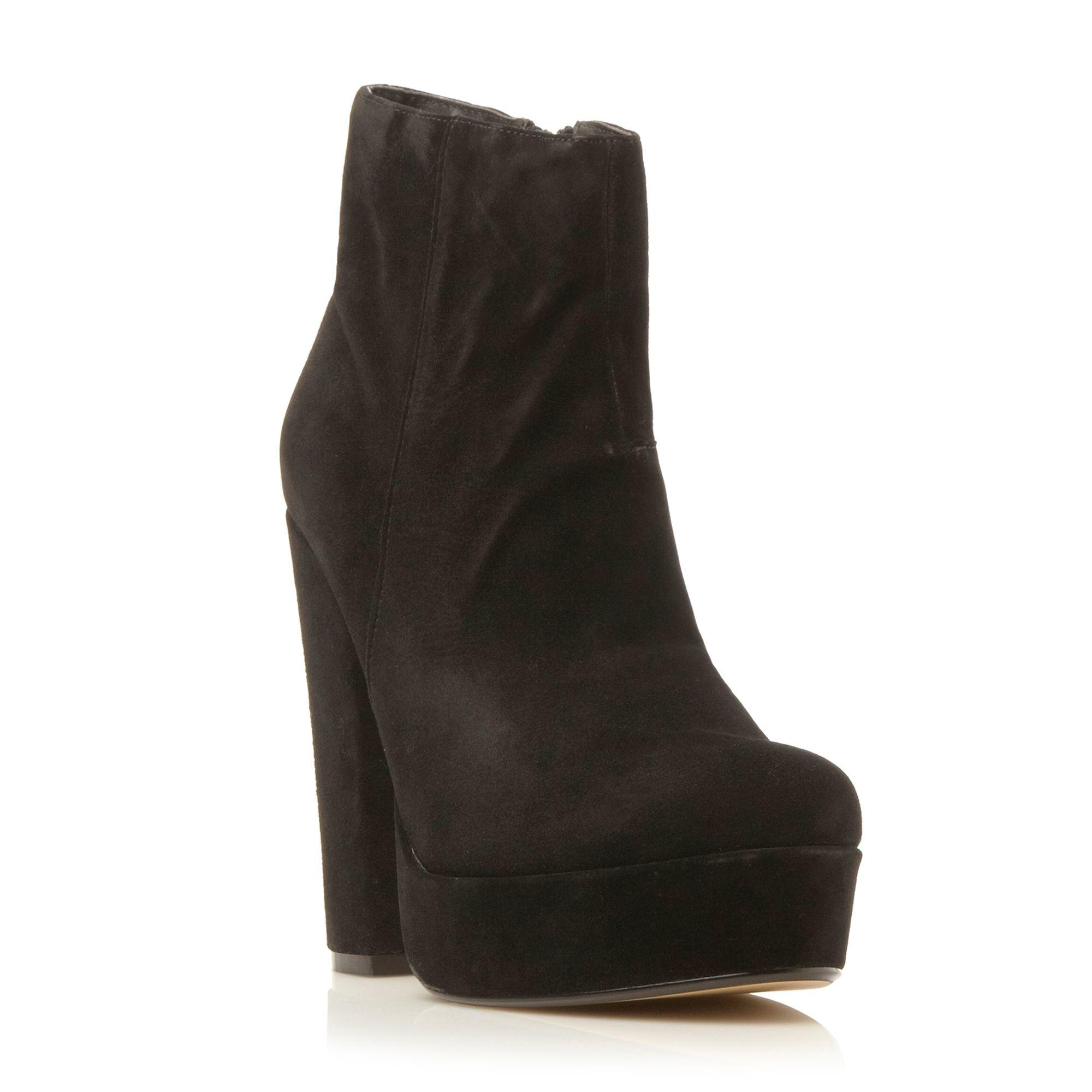 Steve Madden Joanie Chunky Heel Low Boots In Black Black