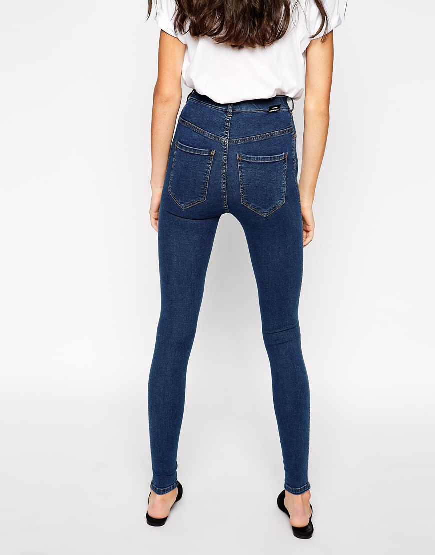 Dr. denim Solitaire High Waist Skinny Jeans in Blue | Lyst