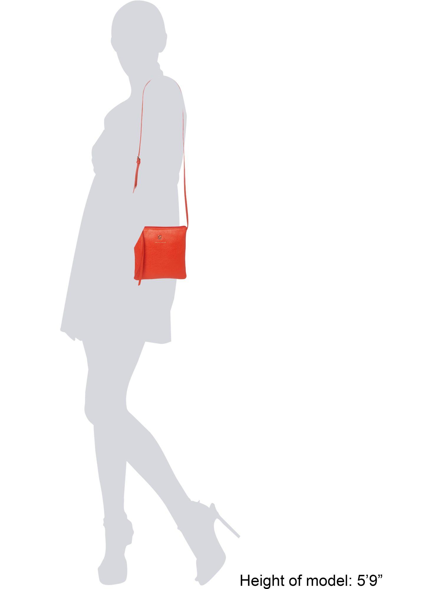 Coccinelle Red Flat Zip Cross Body Bag