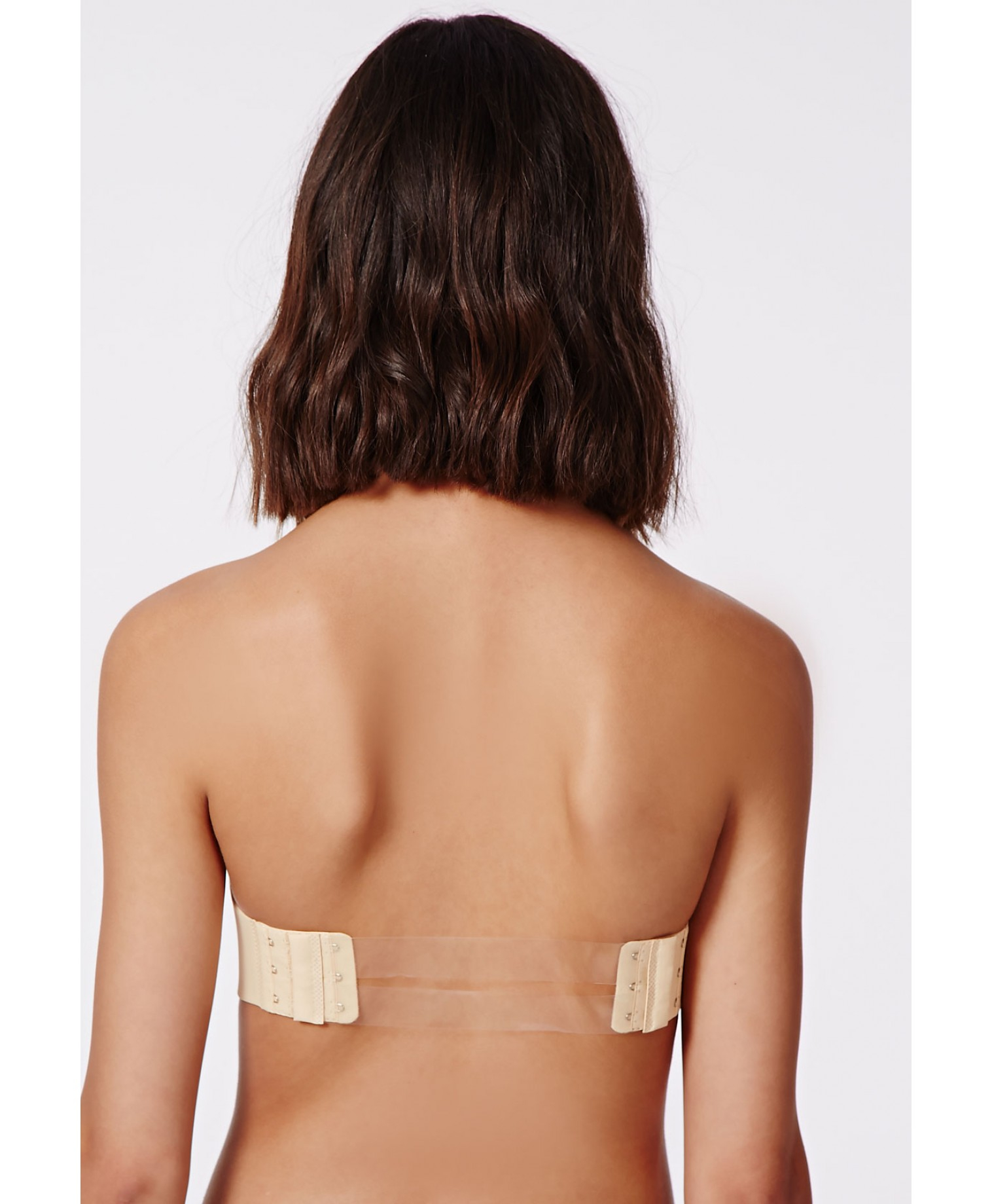 Missguided Kaza Strapless Clear Back Strap Bra Nude in Natural | Lyst
