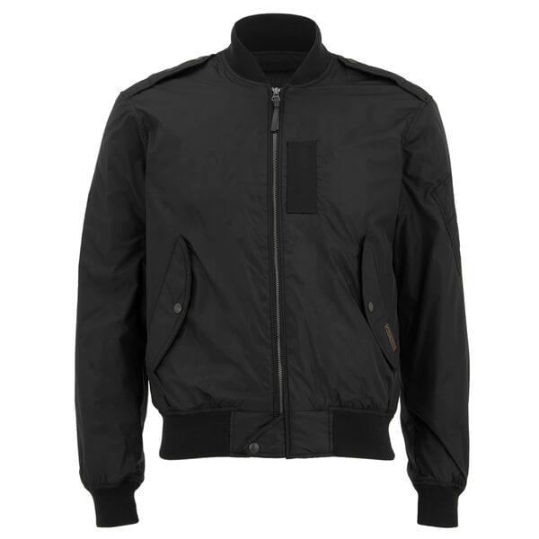 polo ralph lauren men 39 s zipped bomber jacket in black for. Black Bedroom Furniture Sets. Home Design Ideas