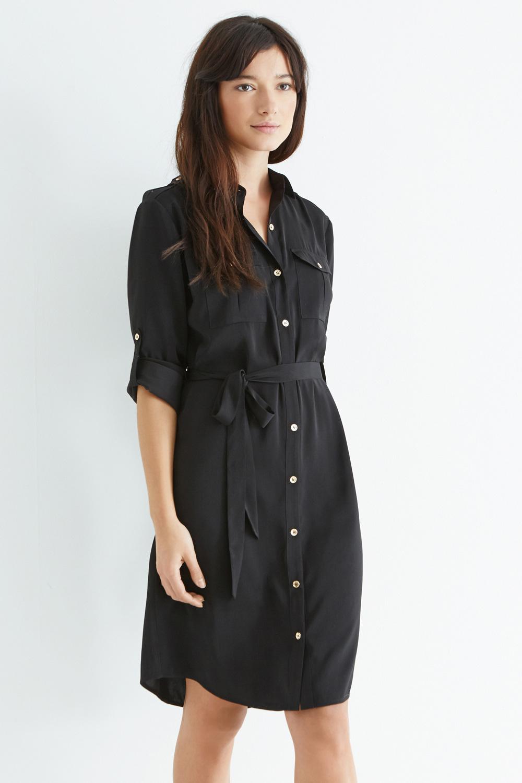 Lyst Oasis Utility Shirt Dress In Black