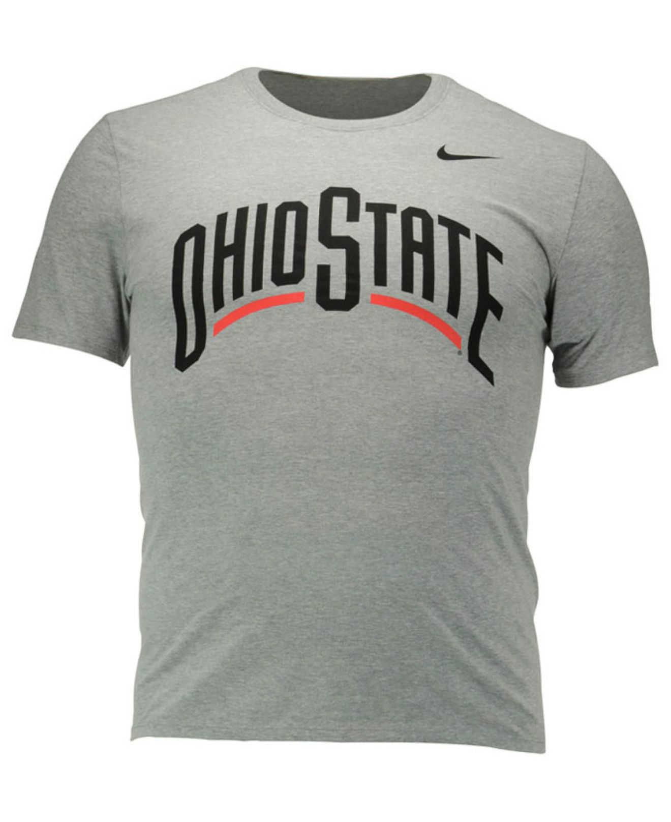 Nike men 39 s ohio state buckeyes wordmark t shirt in gray for Ohio state t shirts