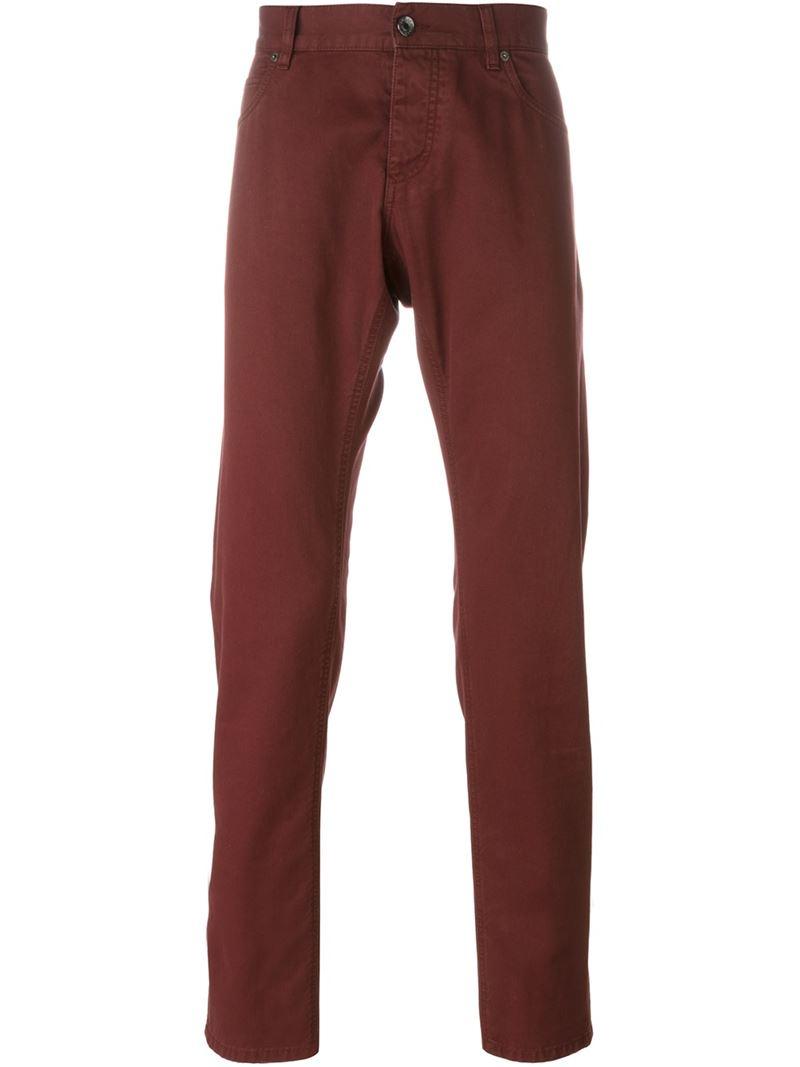 dolce gabbana tapered jeans in red for men lyst. Black Bedroom Furniture Sets. Home Design Ideas