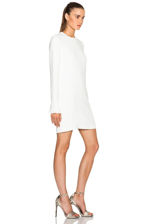 Victoria Beckham White Cut Out Back Shift Dress