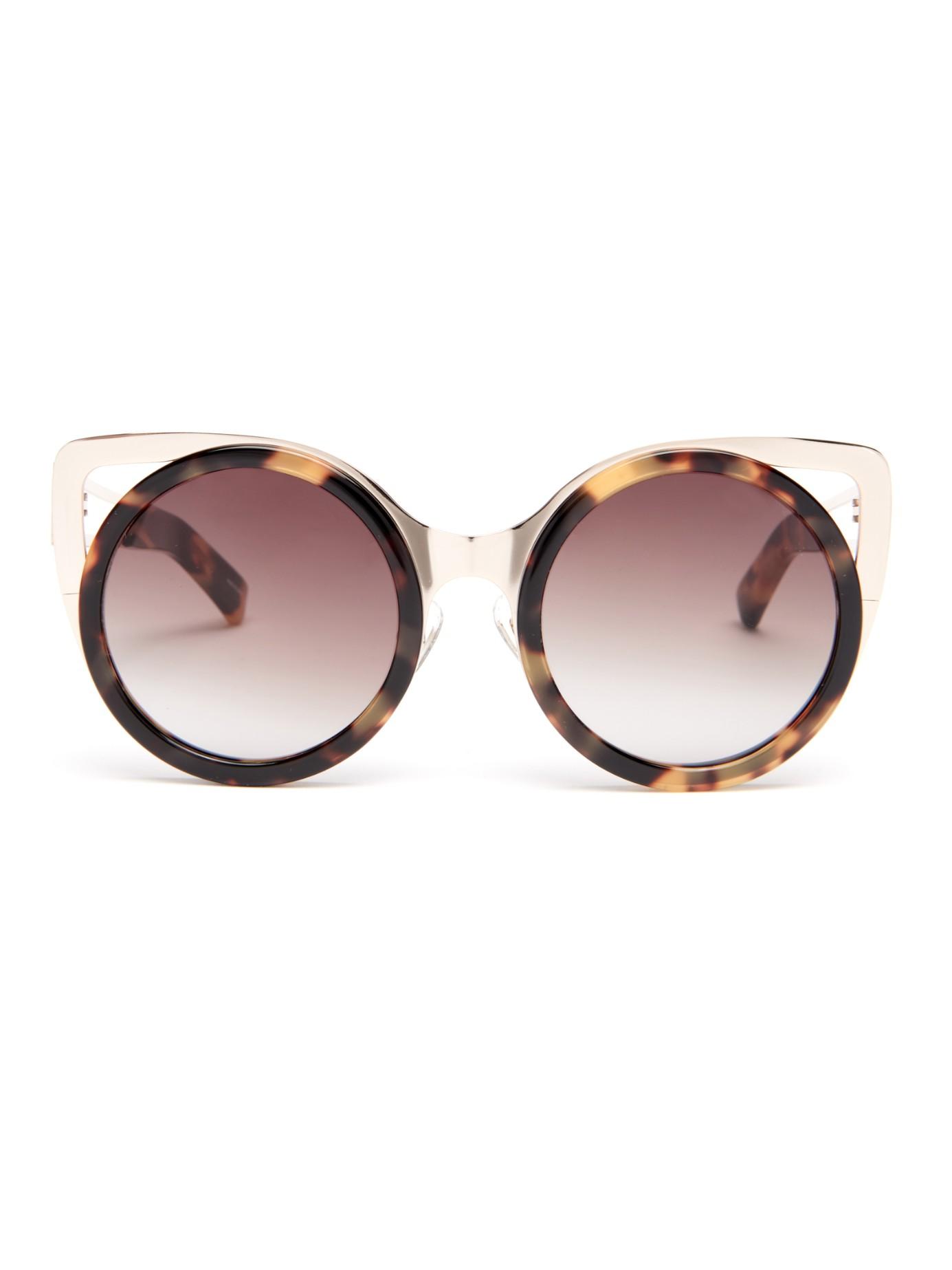 Erdem X Linda Farrow Cat-eye Sunglasses In Brown