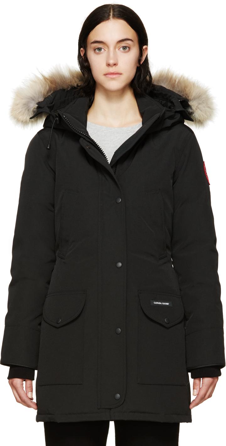 canada goose ladies trillium parka jackets womens black