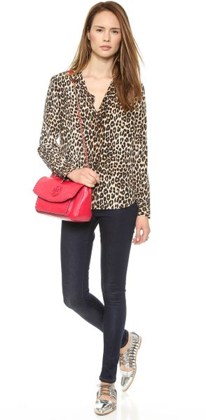 Tory Burch Marion Small Shoulder Bag Red 104