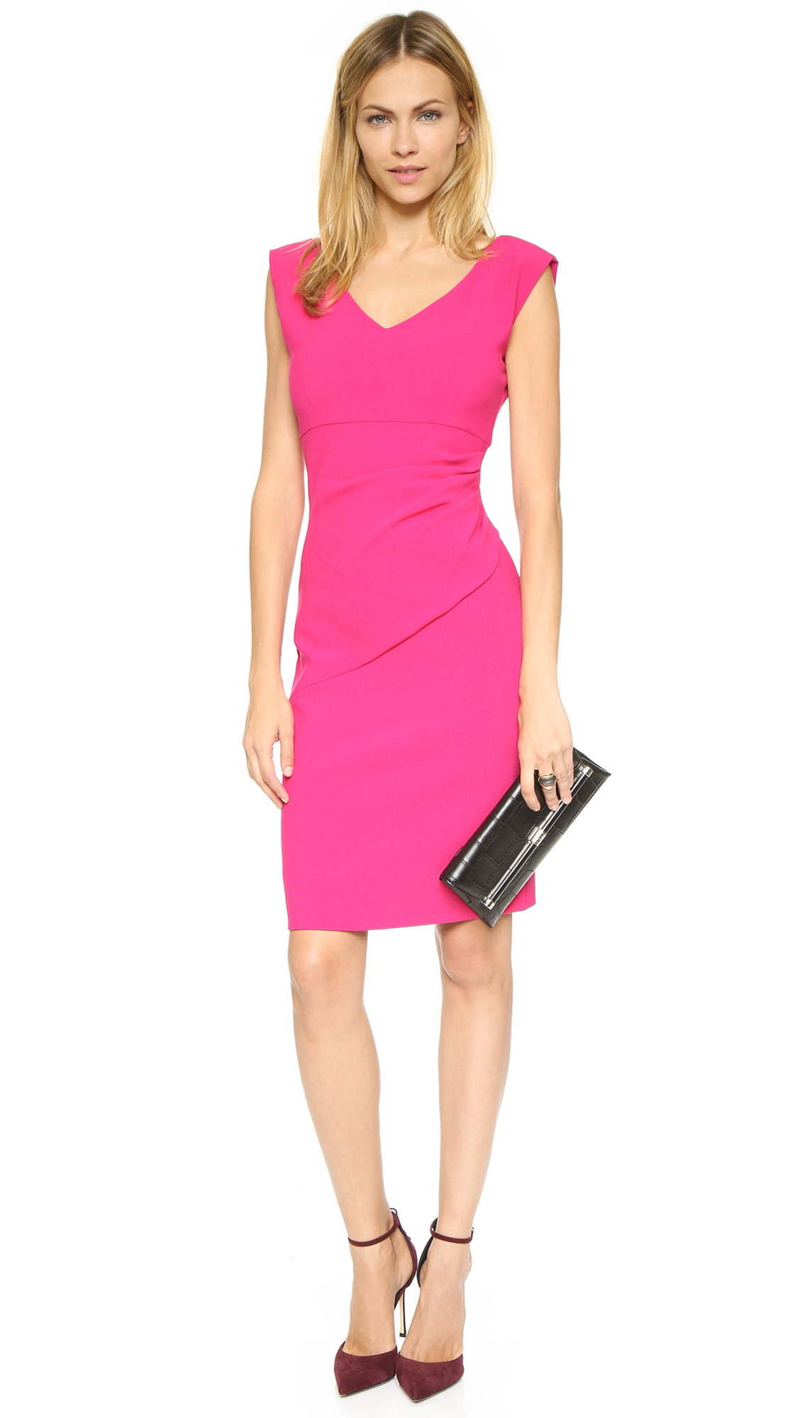 Lyst diane von furstenberg bevin dress dragonfruit in pink for Diane von furstenberg clothes