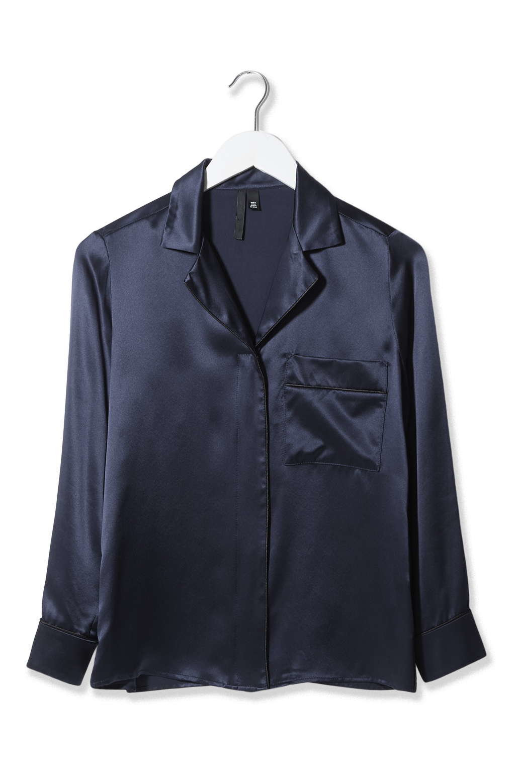 90bb645971 TOPSHOP Pyjama-style Satin Shirt By Boutique in Blue - Lyst