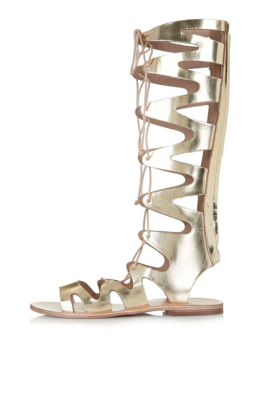 a7946e2a7c2a Topshop Figtree Gladiator Sandals in Metallic - Lyst
