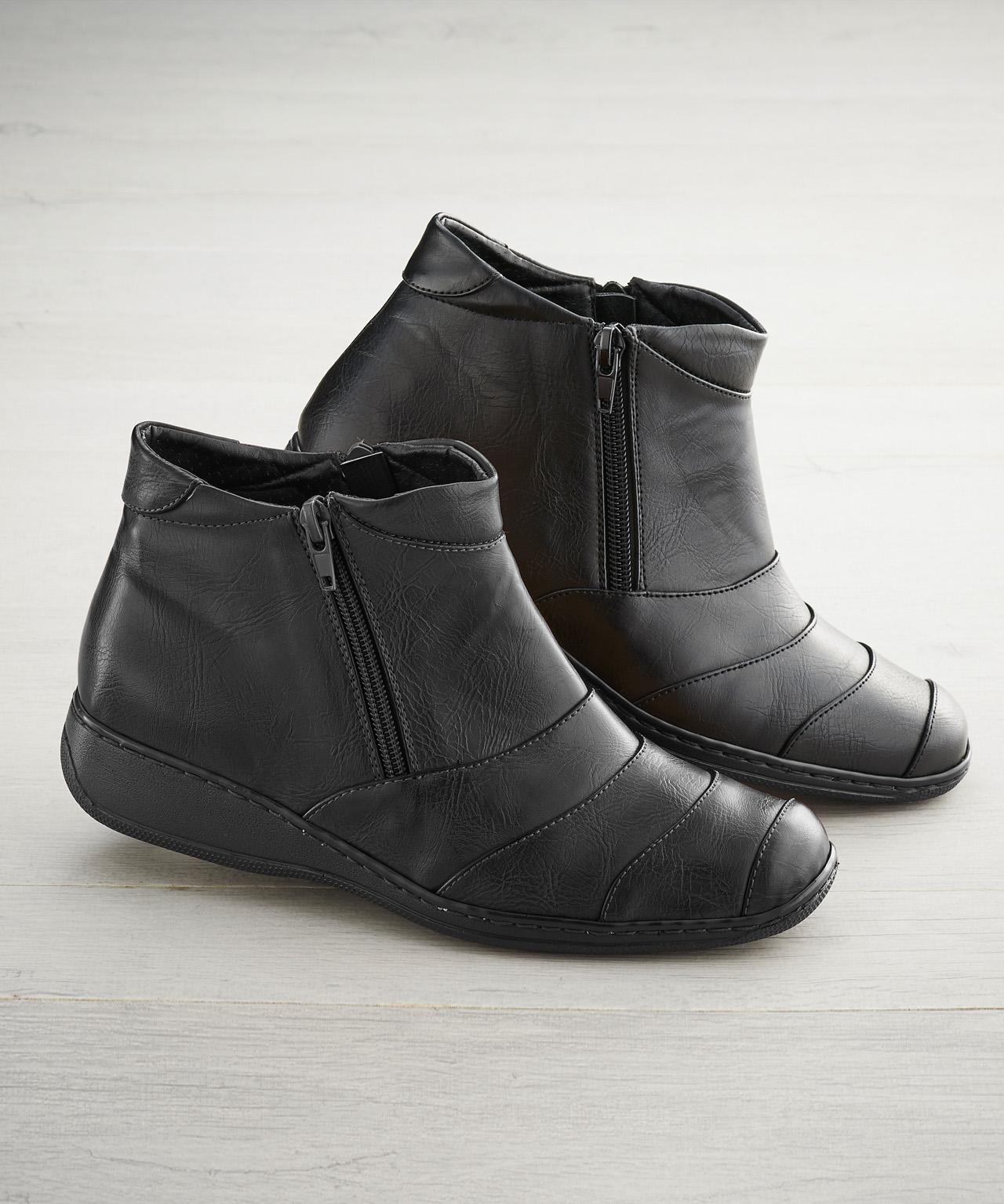 6ef691e02ba DAMART Coussin D air Wide Fit Ankle Boots in Black - Lyst