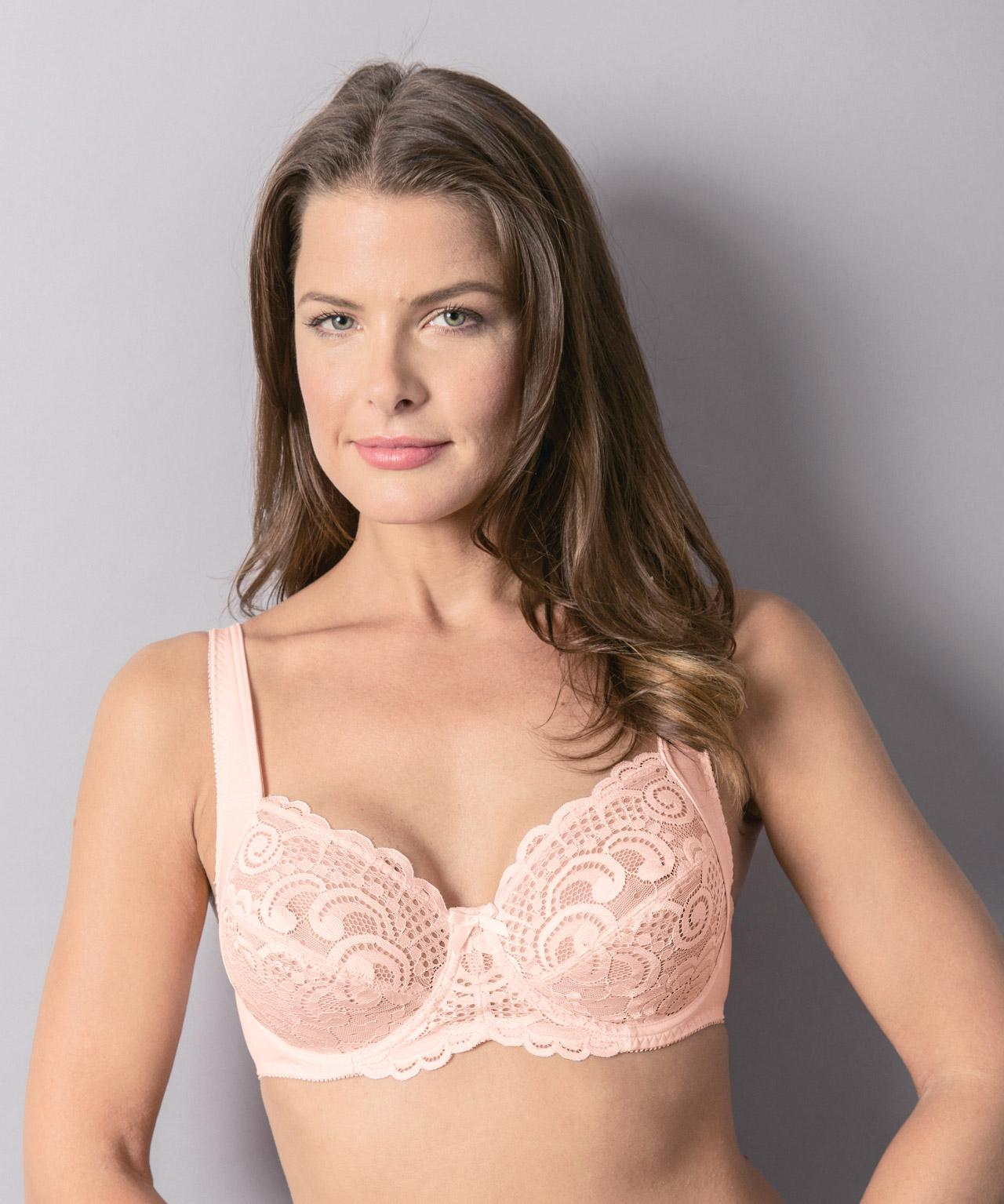 2bbc2ba869275 DAMART Pack Of 2 Underwired Lacy Bras in Natural - Lyst