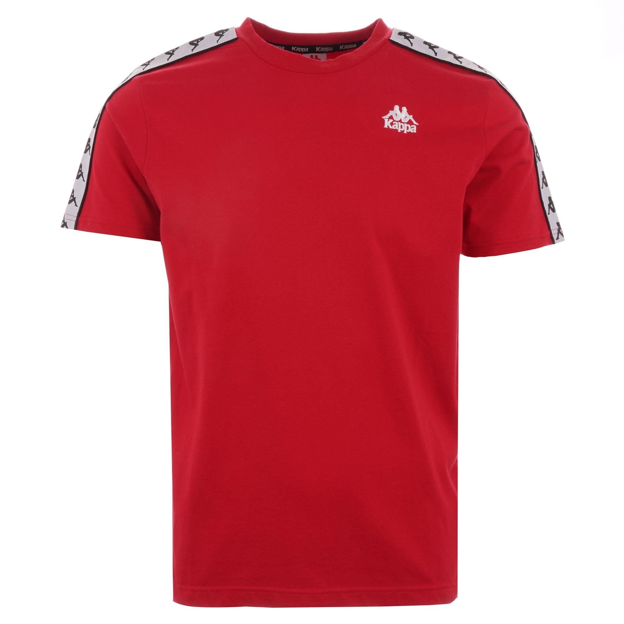 Blue//White//RED Kappa 222 Banda ARAR Slim Men T-Shirt