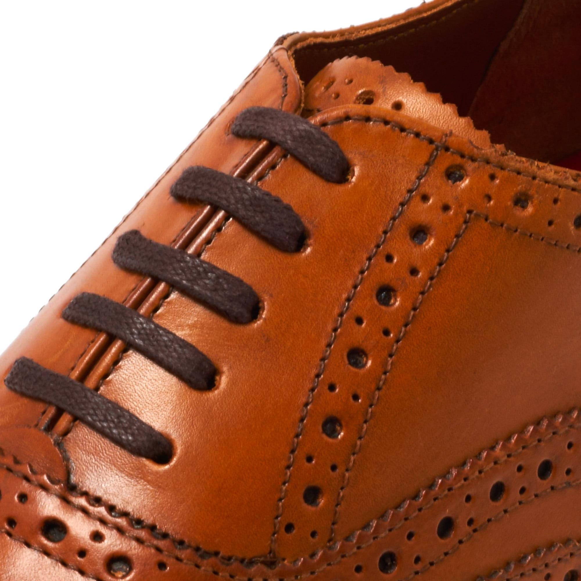 Grenson Dylan Tan Brogue Leather Shoe for Men