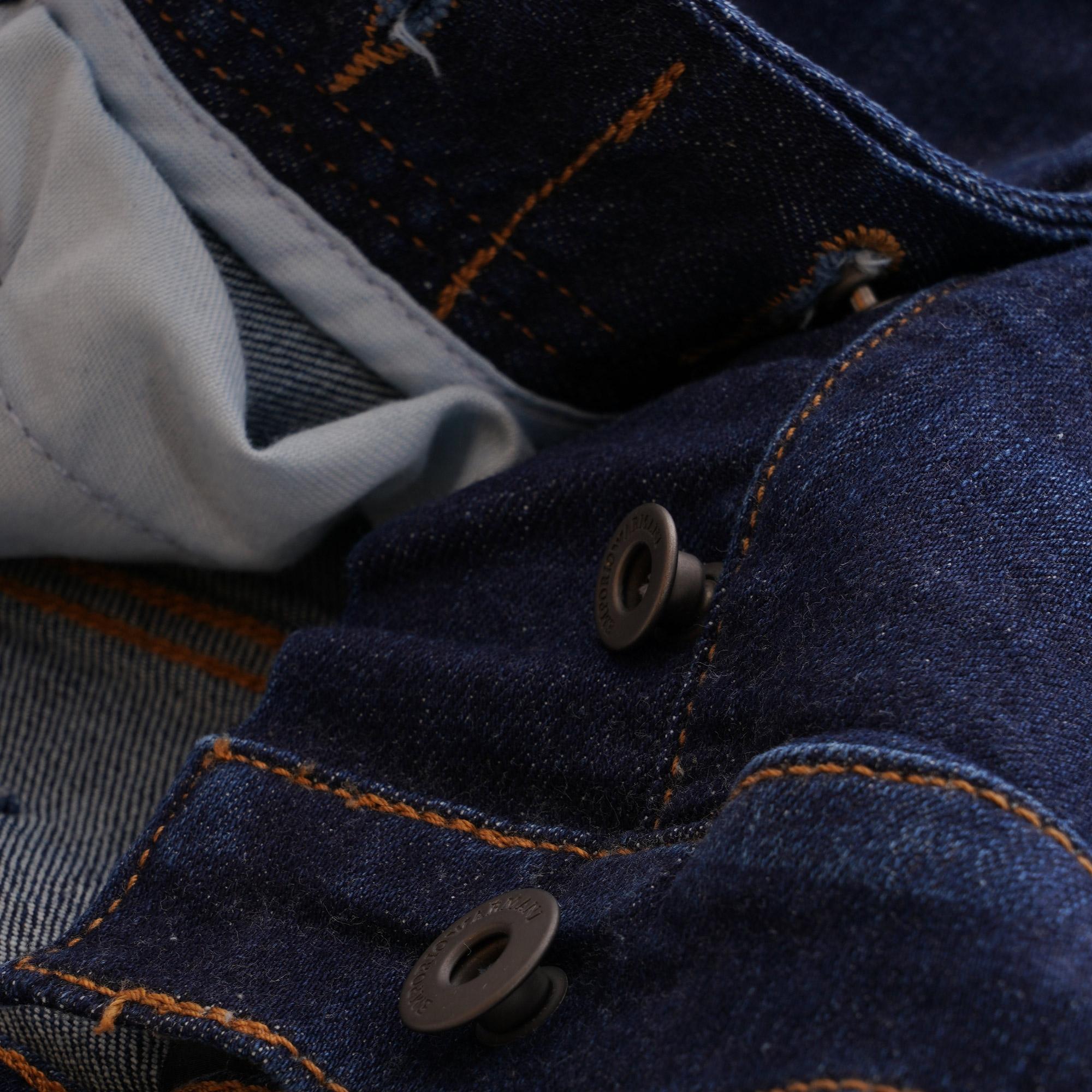 bb0b11a0890e Emporio Armani - Blue J21 Regular Fit Stretch Denim Jeans for Men - Lyst.  View fullscreen