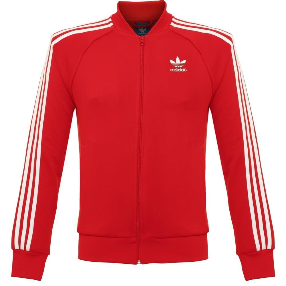 d089c021fbf47 Adidas Originals Black Superstar Red Track Jacket Ay7062 for men