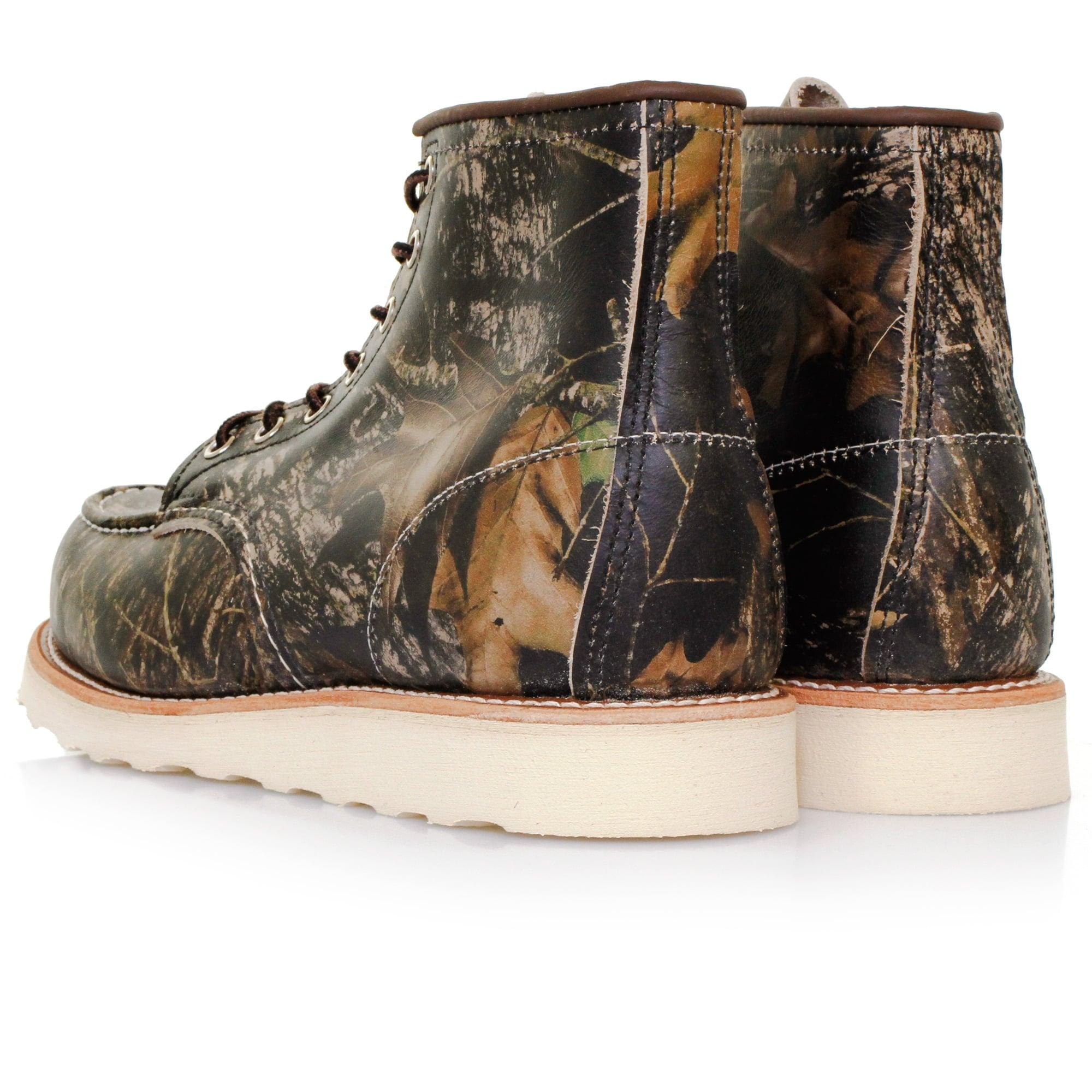 Red Wing Moc Toe 8884 Mossy Oak Camo Boots In Red For Men