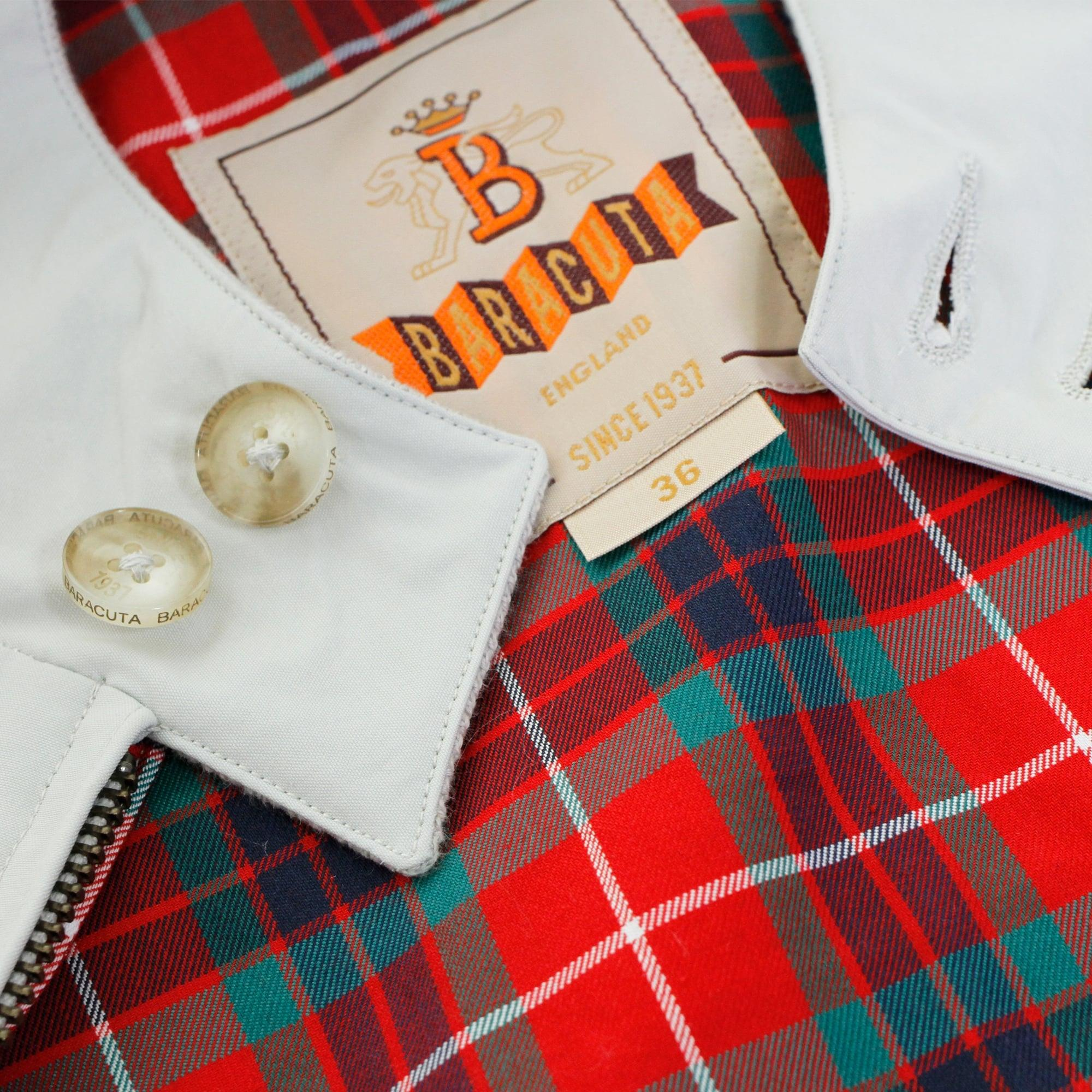 Baracuta Cotton G9 Classic Mcqueen's Stone Grey Harrington Jacket in Grey for Men