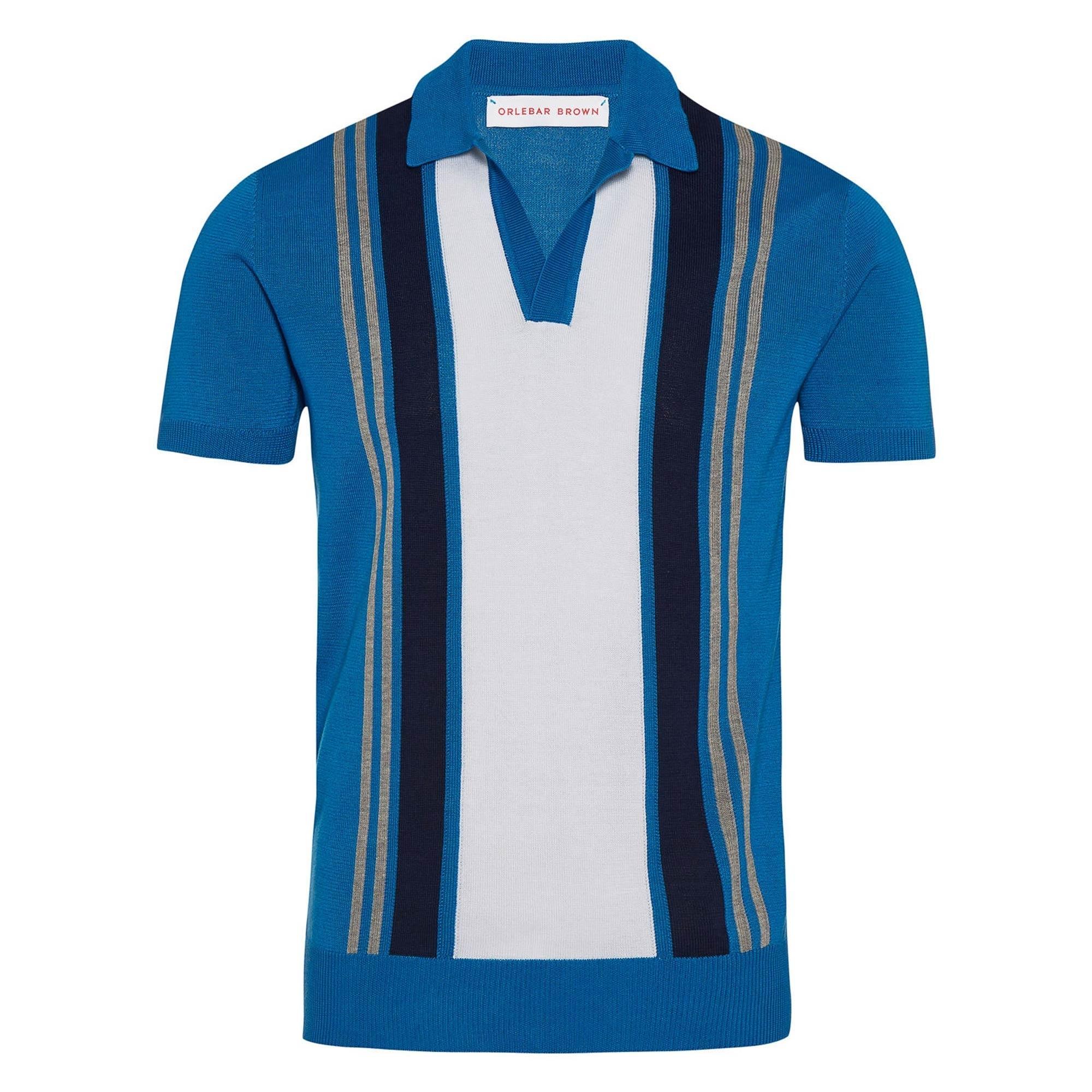 746d206ee Orlebar Brown Horton Vertical Stripe Polo Shirt in Blue for Men - Lyst