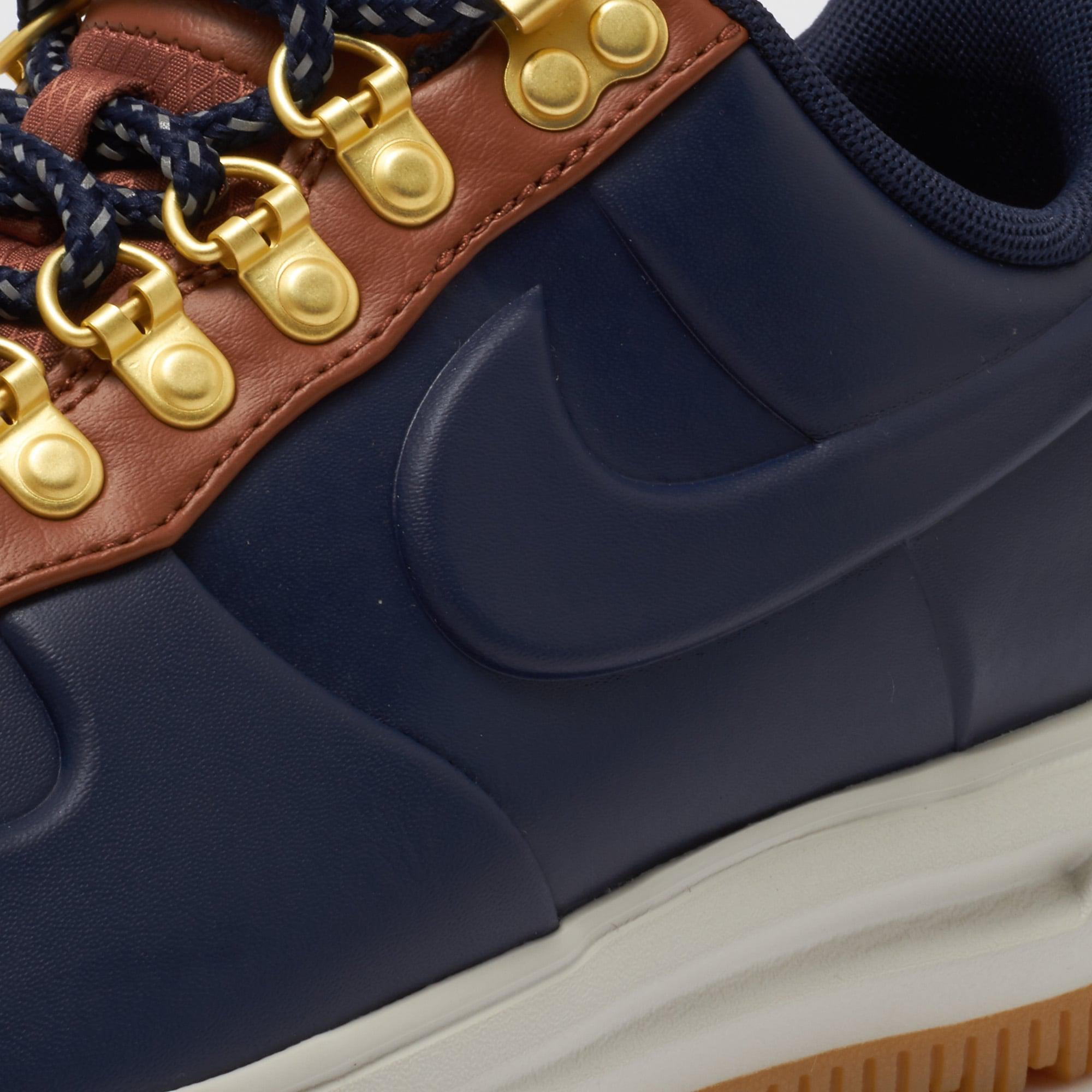 71e8a1e70654 Lyst - Nike Lunar Force 1 Duckboot Low - Obsidian   Saddle Brown in ...