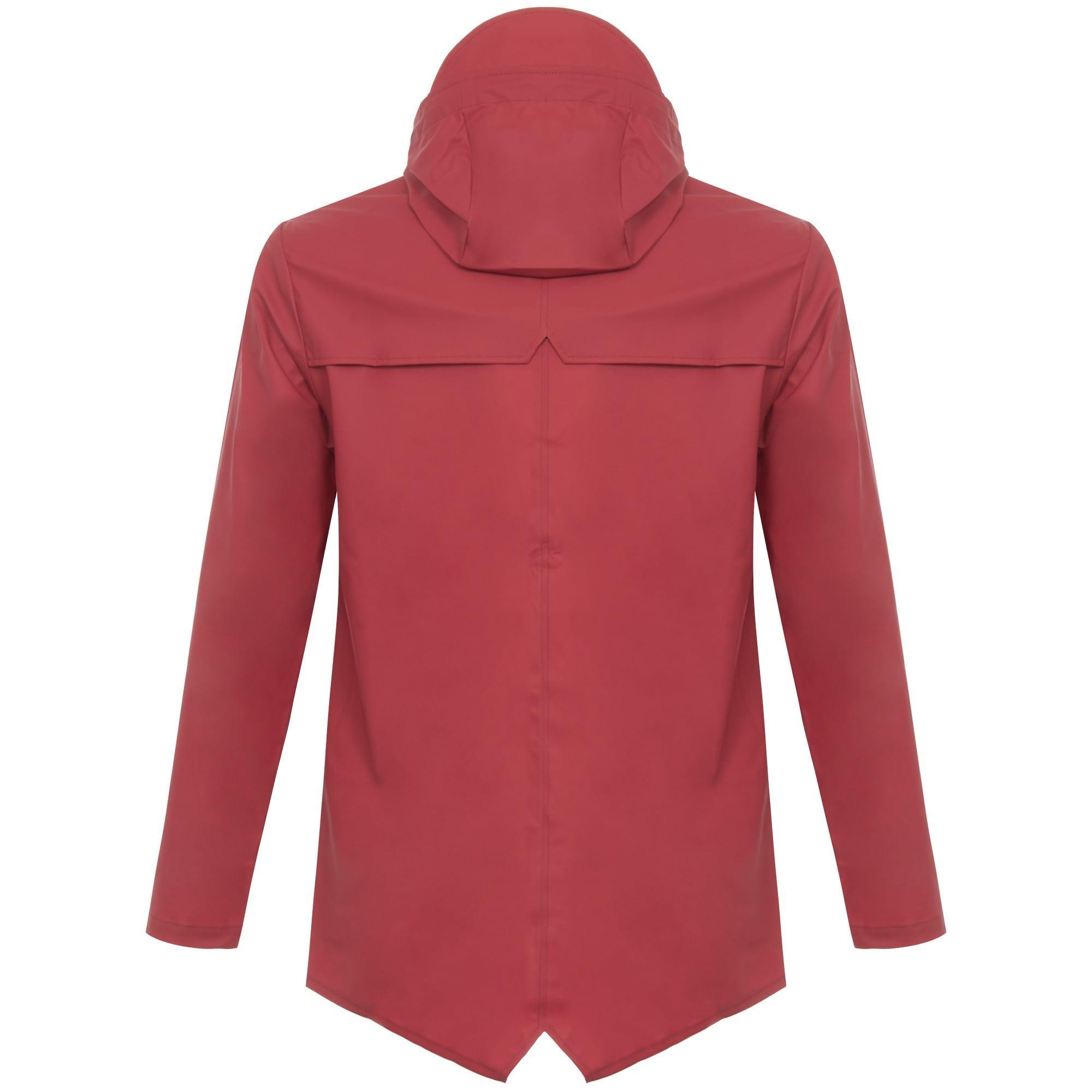Rains Denim Waterproof Hooded Jacket in Red for Men