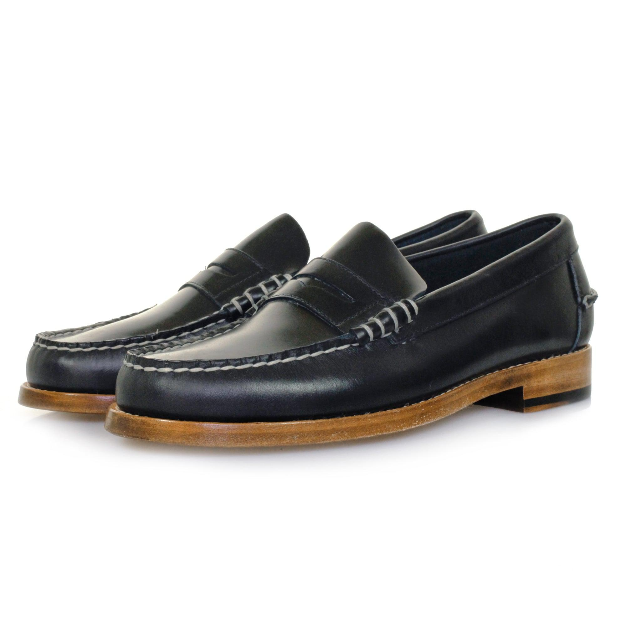 Sebago Leather Legacy Penny Navy Loafer Shoe B766085 in ...